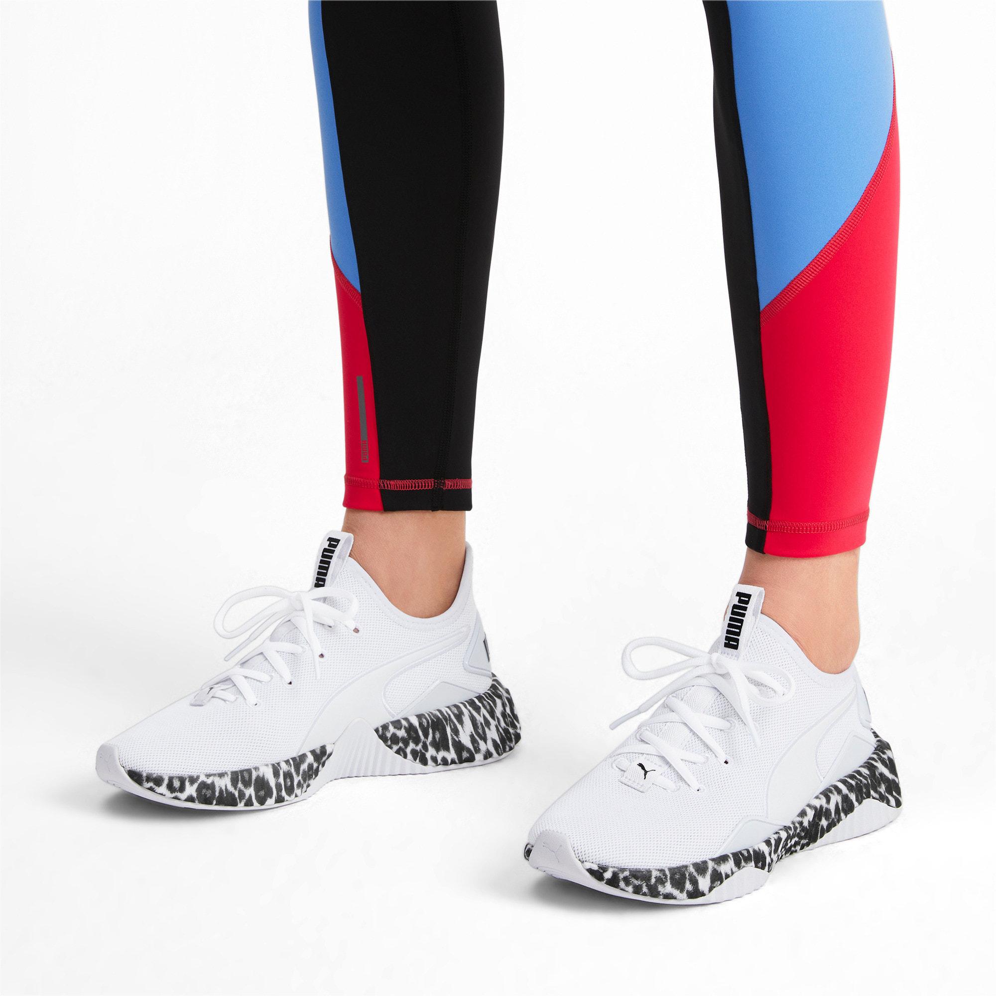 Thumbnail 2 of Defy Leopard Women's Sneakers, Puma White-Puma Black, medium