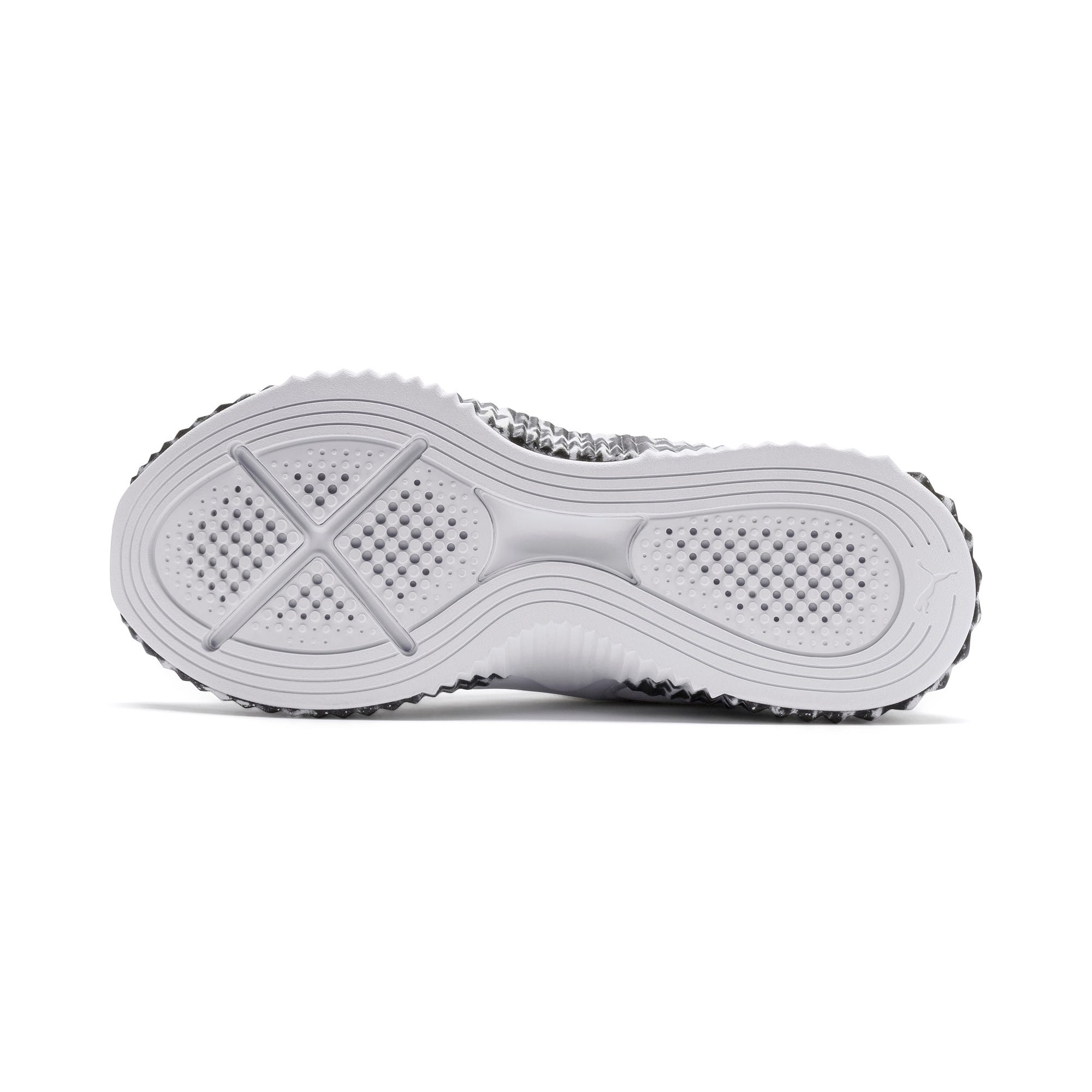 Thumbnail 5 of Defy Leopard Women's Sneakers, Puma White-Puma Black, medium