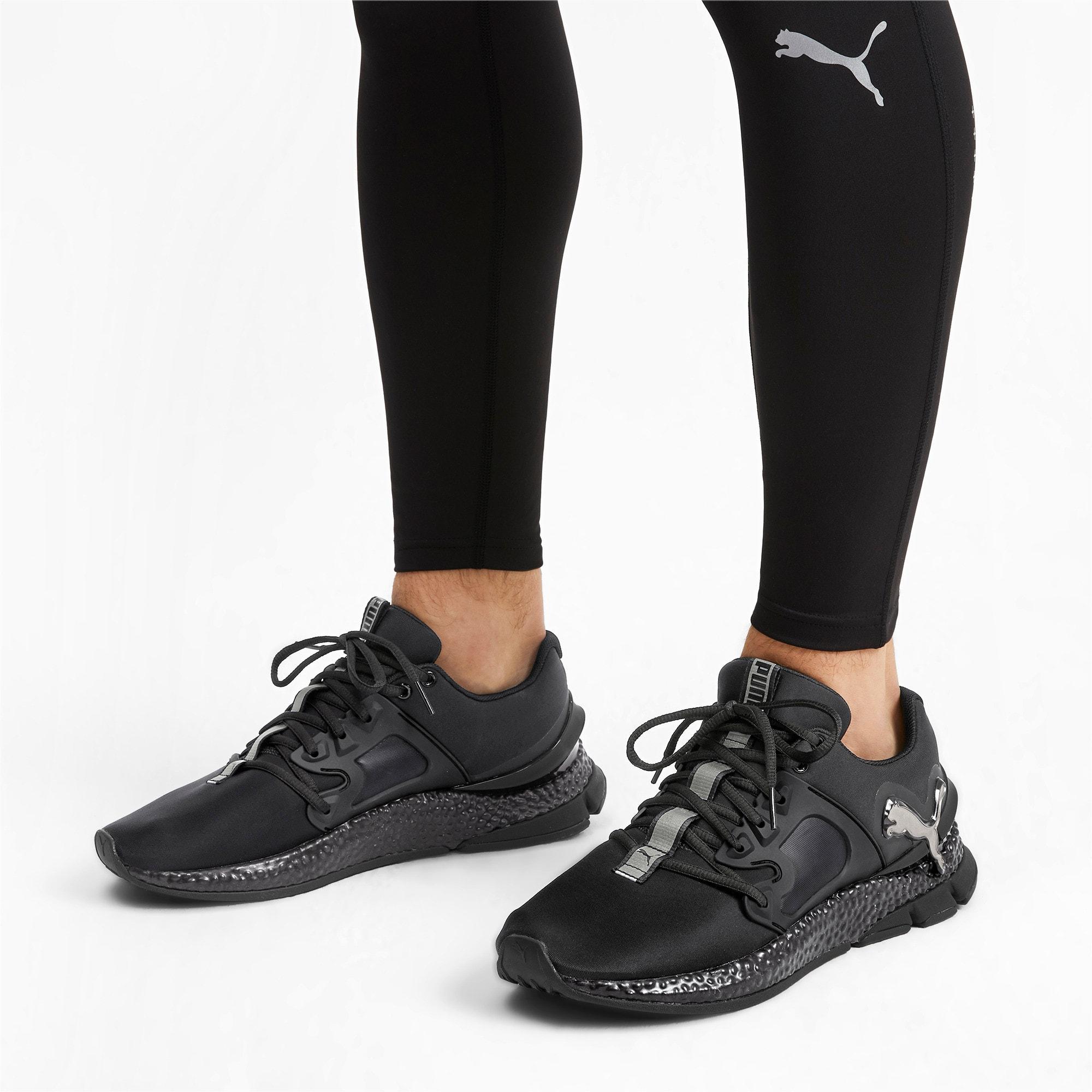 Thumbnail 2 of HYBRID Sky Rave Men's Running Shoes, Puma Black-Puma Aged Silver, medium