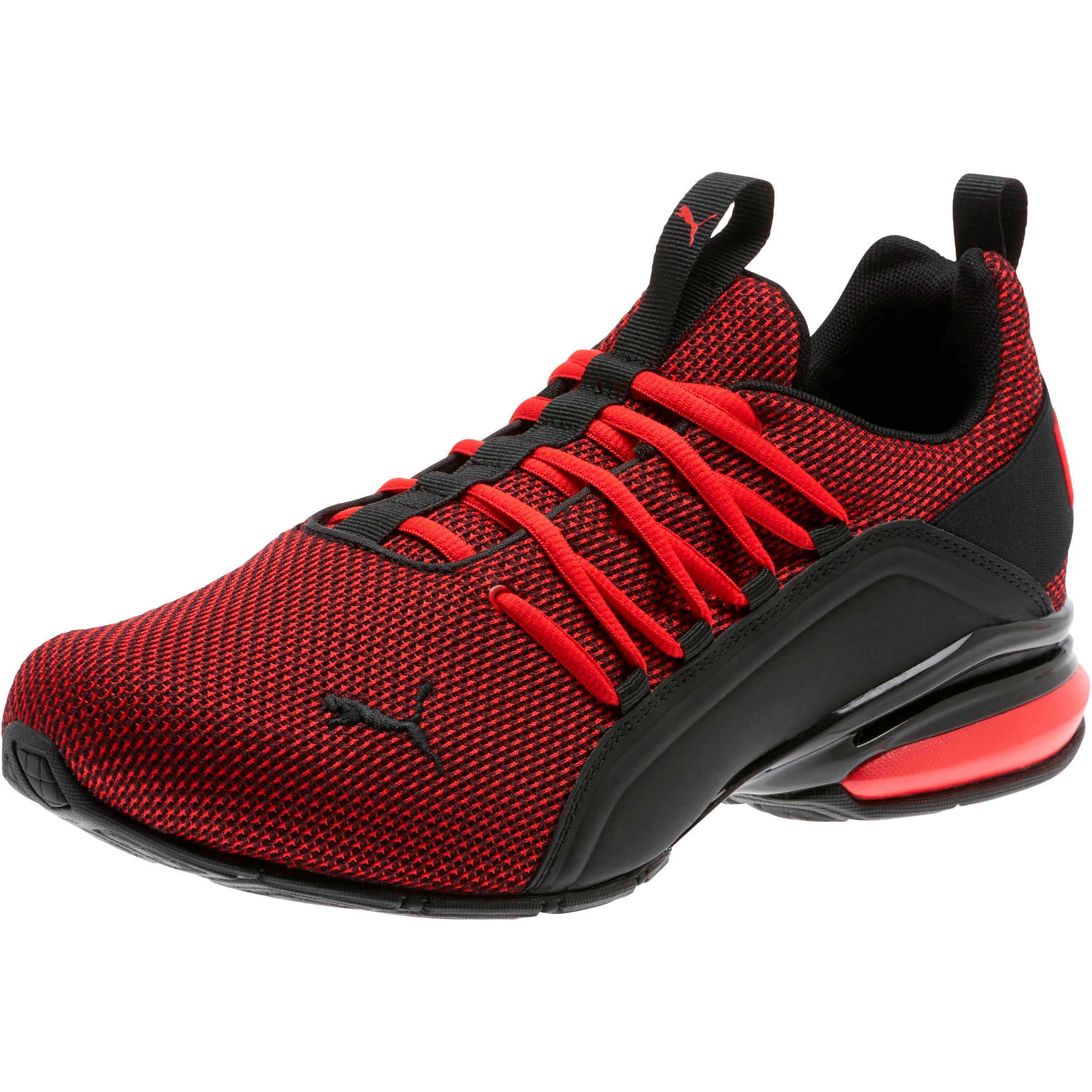 Thumbnail 1 of Axelion Mesh Wide Men's Training Shoes, High Risk Red-Puma Black, medium