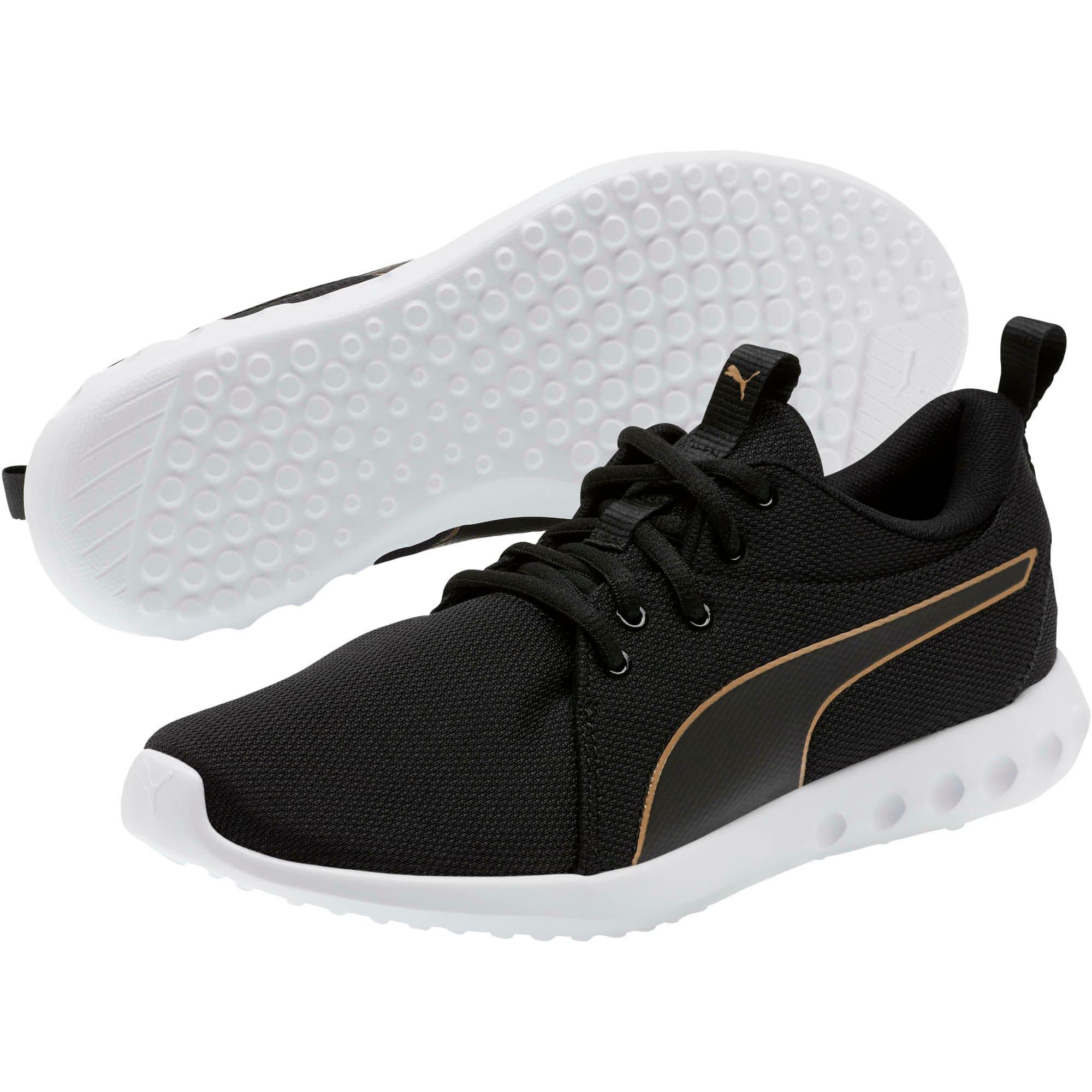 Thumbnail 2 of Carson 2 Cosmo Women's Running Shoes, Puma Black-Metallic Gold, medium