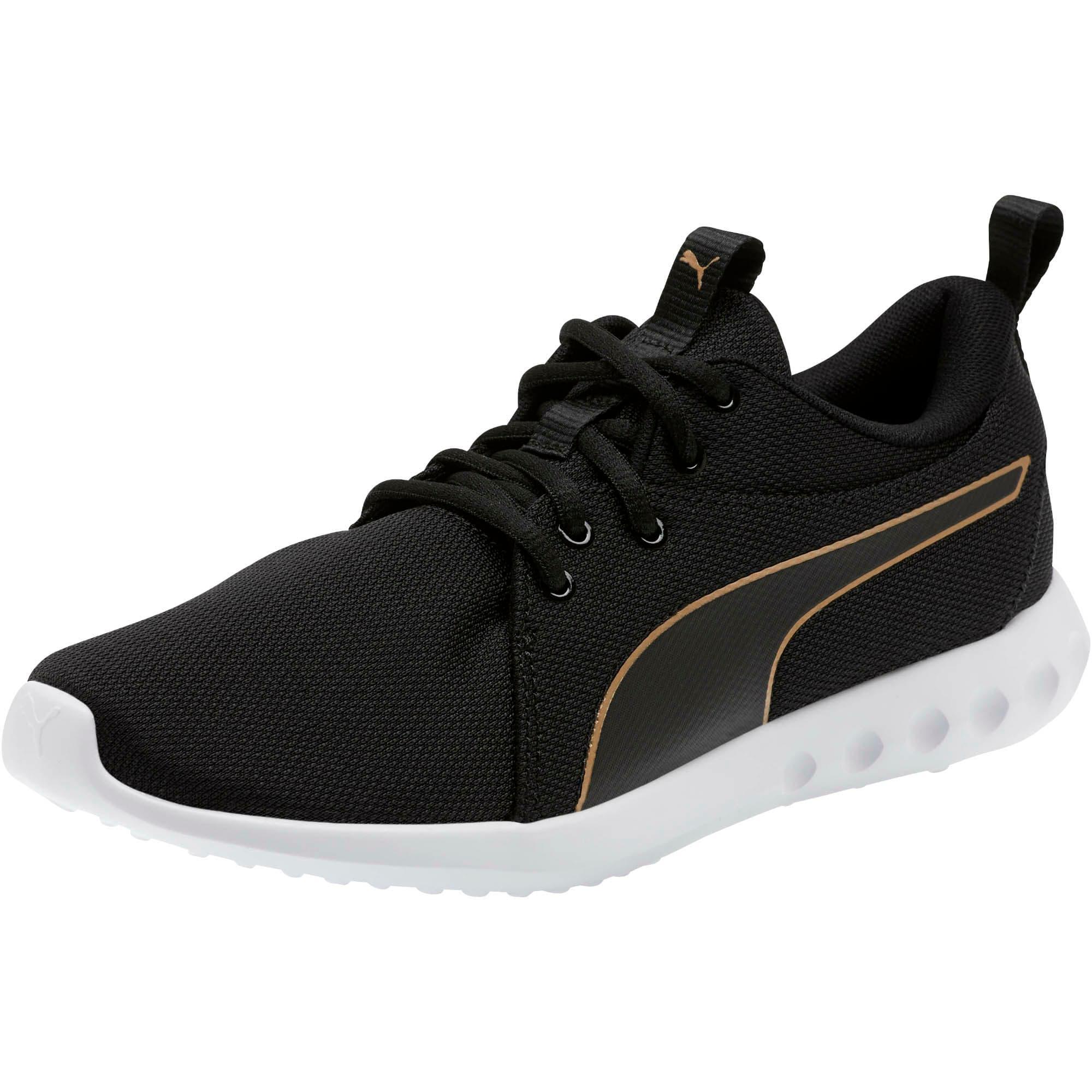 Thumbnail 1 of Carson 2 Cosmo Women's Running Shoes, Puma Black-Metallic Gold, medium