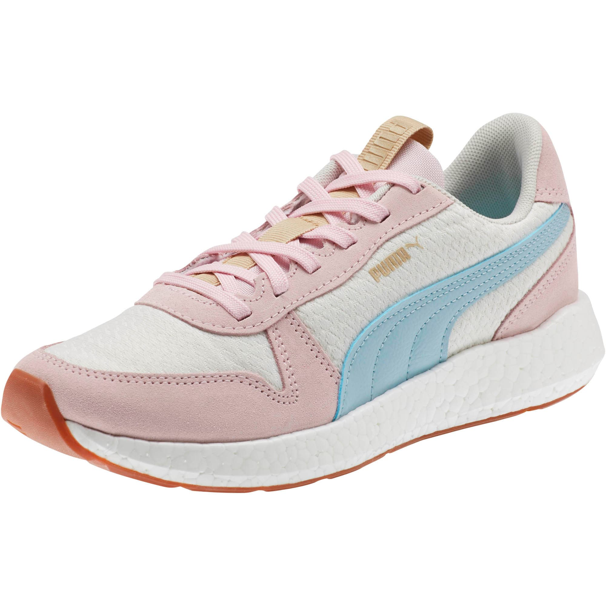 Thumbnail 1 of NRGY Neko Retro Sweet Women's Street Running Shoes, Whisper White-Pink-Sky, medium