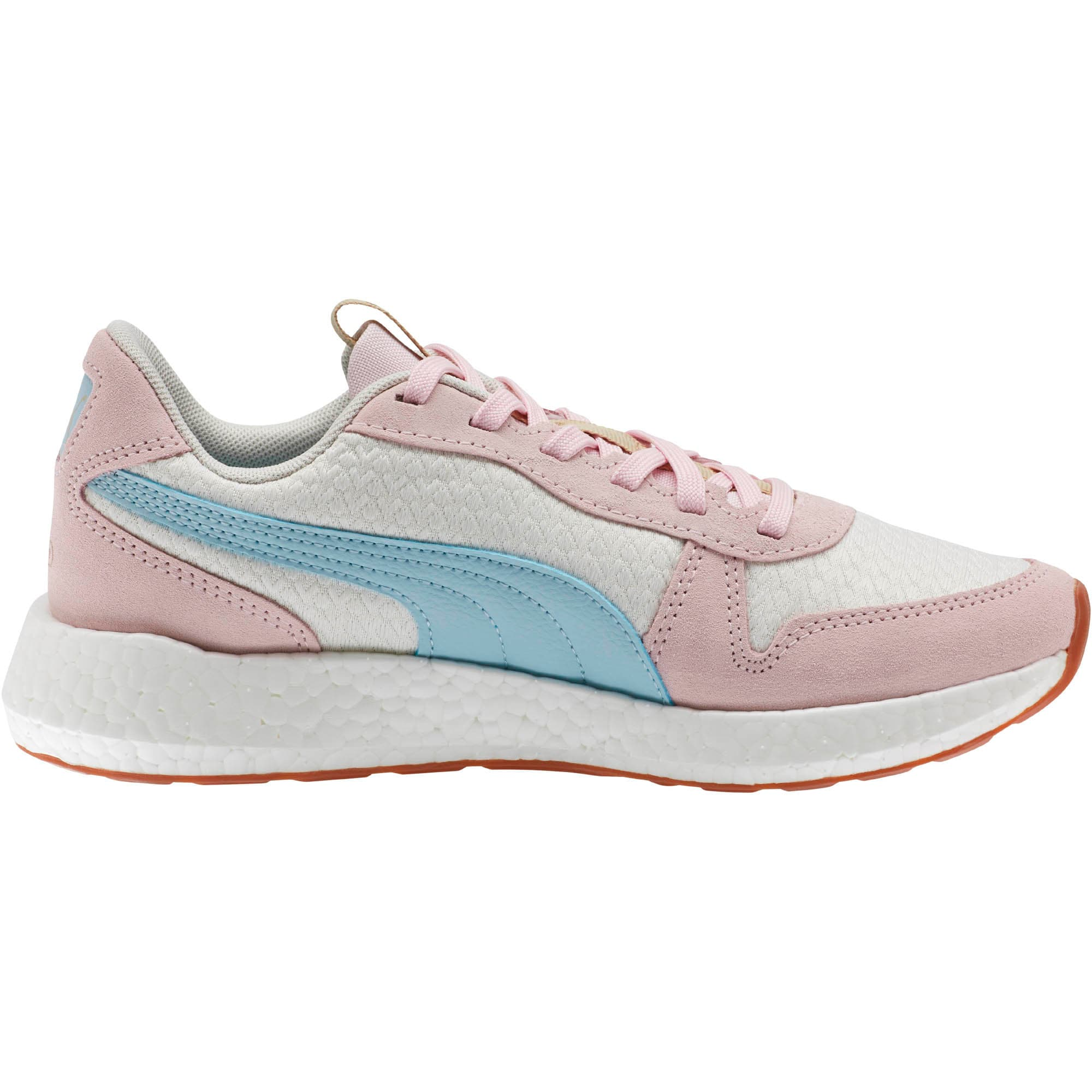 Thumbnail 4 of NRGY Neko Retro Sweet Women's Street Running Shoes, Whisper White-Pink-Sky, medium