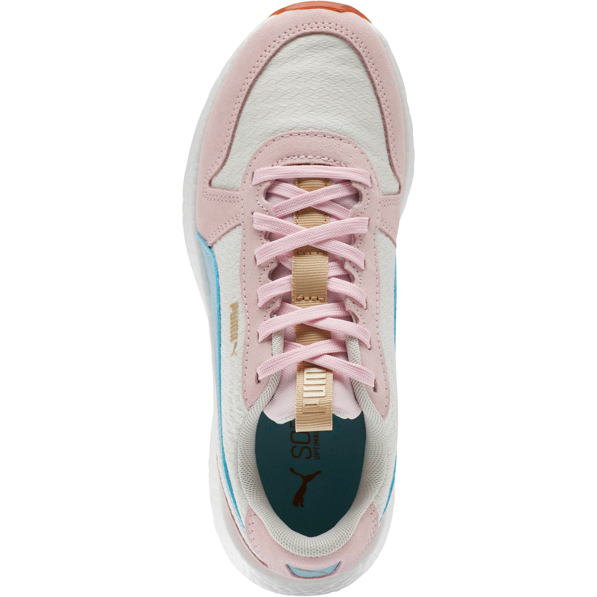 Thumbnail 5 of NRGY Neko Retro Sweet Women's Street Running Shoes, Whisper White-Pink-Sky, medium