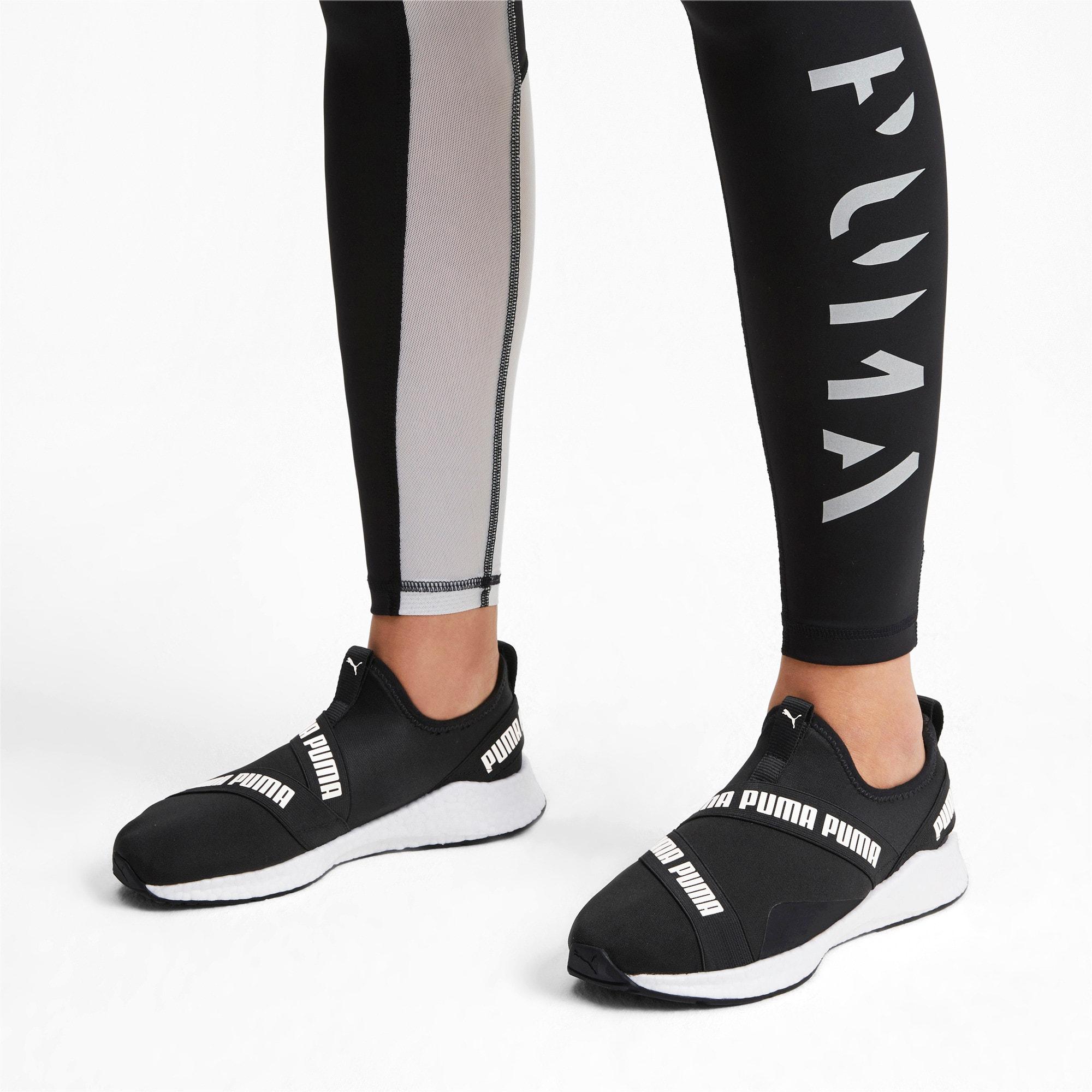 Thumbnail 2 of NRGY Star Slip-On Running Shoes, Black-Pearl-White, medium
