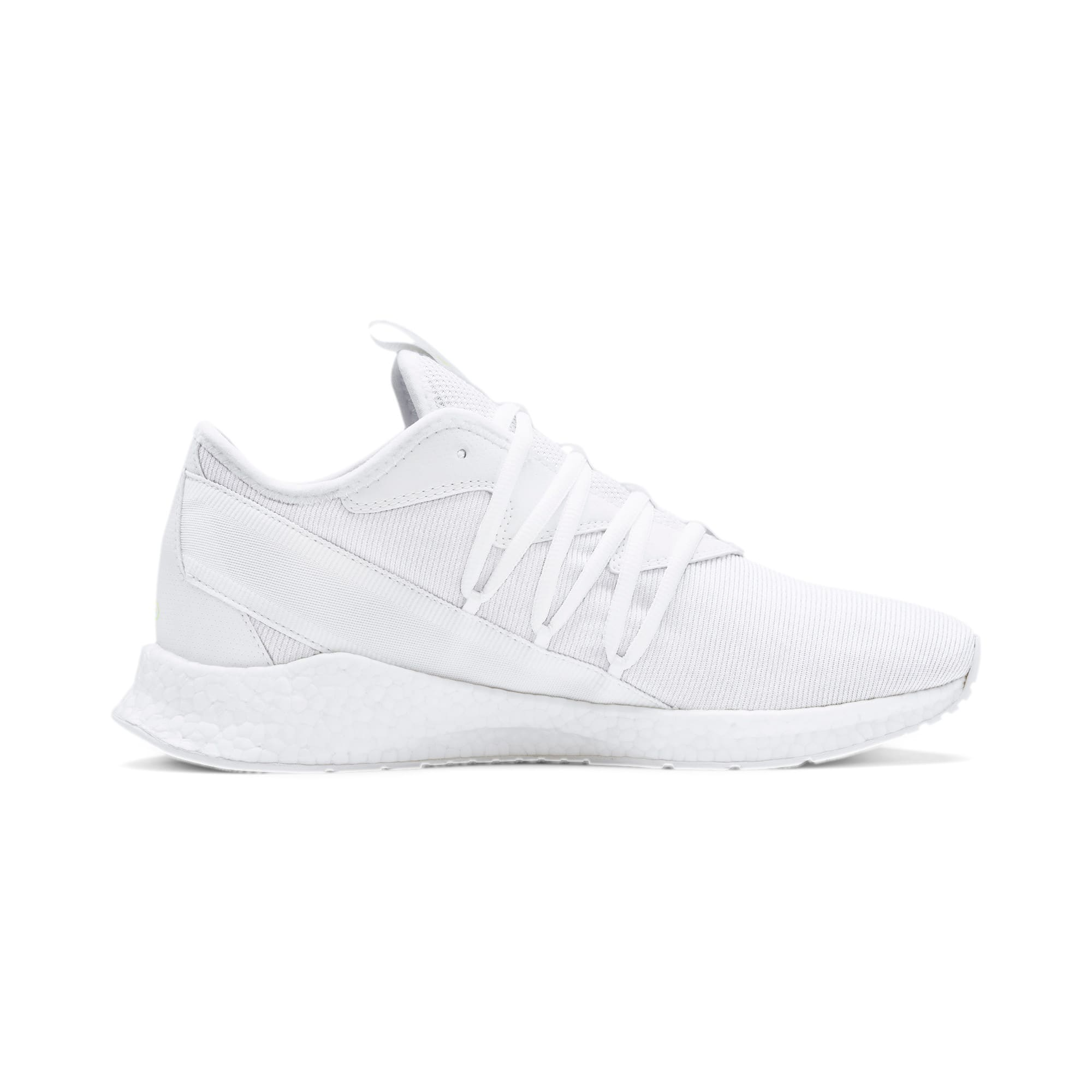 Thumbnail 6 of NRGY Star Knit Trainers, White-Glacier Gray-Yellow, medium