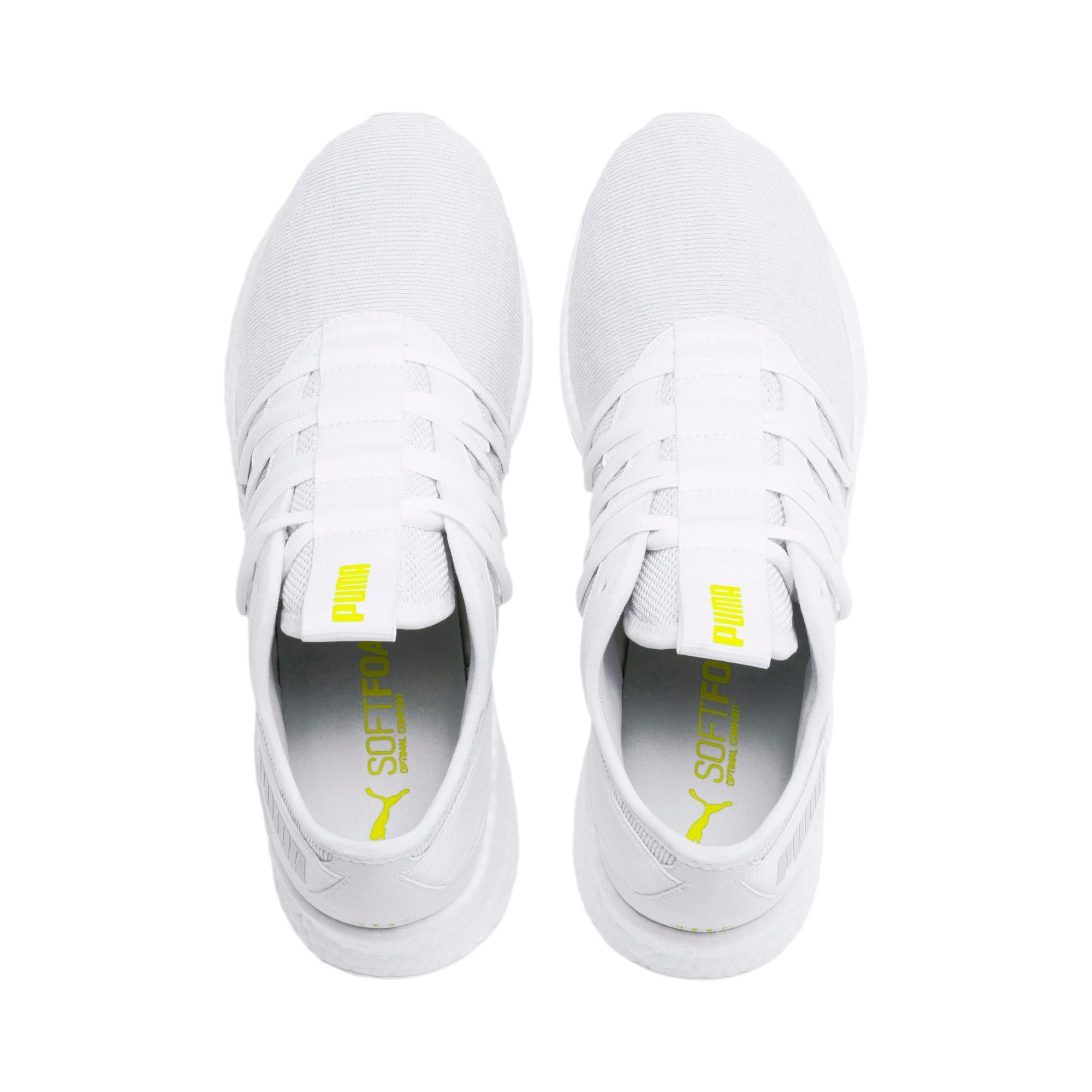 Thumbnail 7 of NRGY Star Knit Trainers, White-Glacier Gray-Yellow, medium