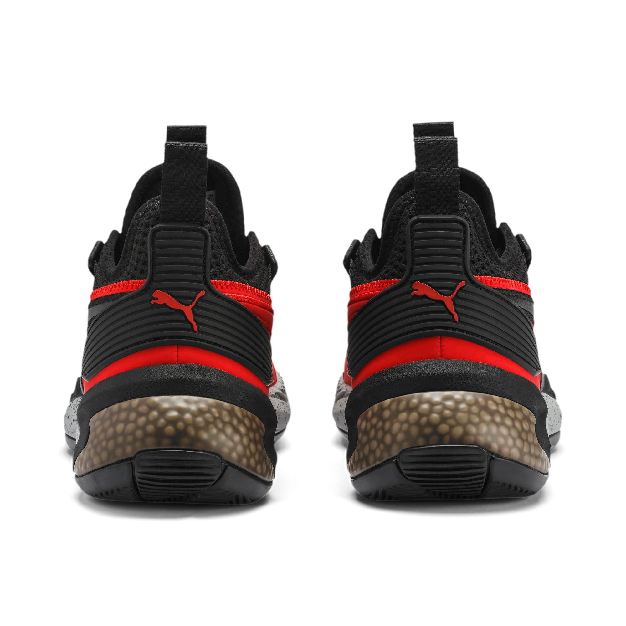 Thumbnail 3 of Uproar Core Men's Basketball Shoes, High Risk Red-Puma Black, medium