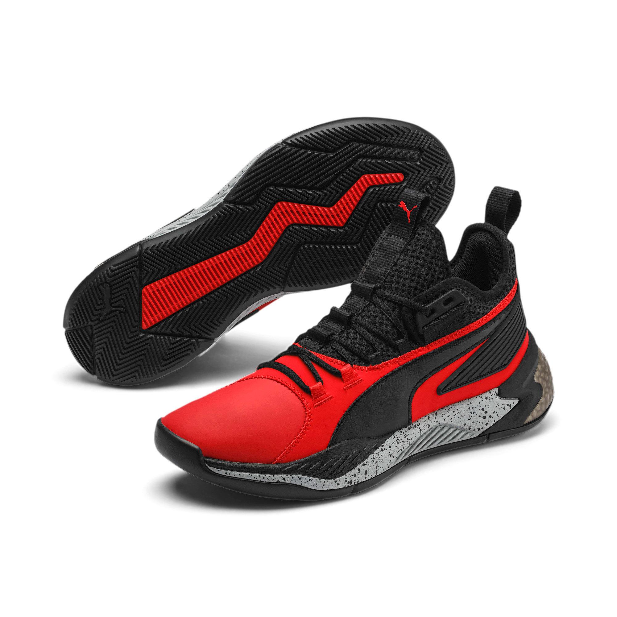 Thumbnail 2 of Uproar Core Men's Basketball Shoes, High Risk Red-Puma Black, medium
