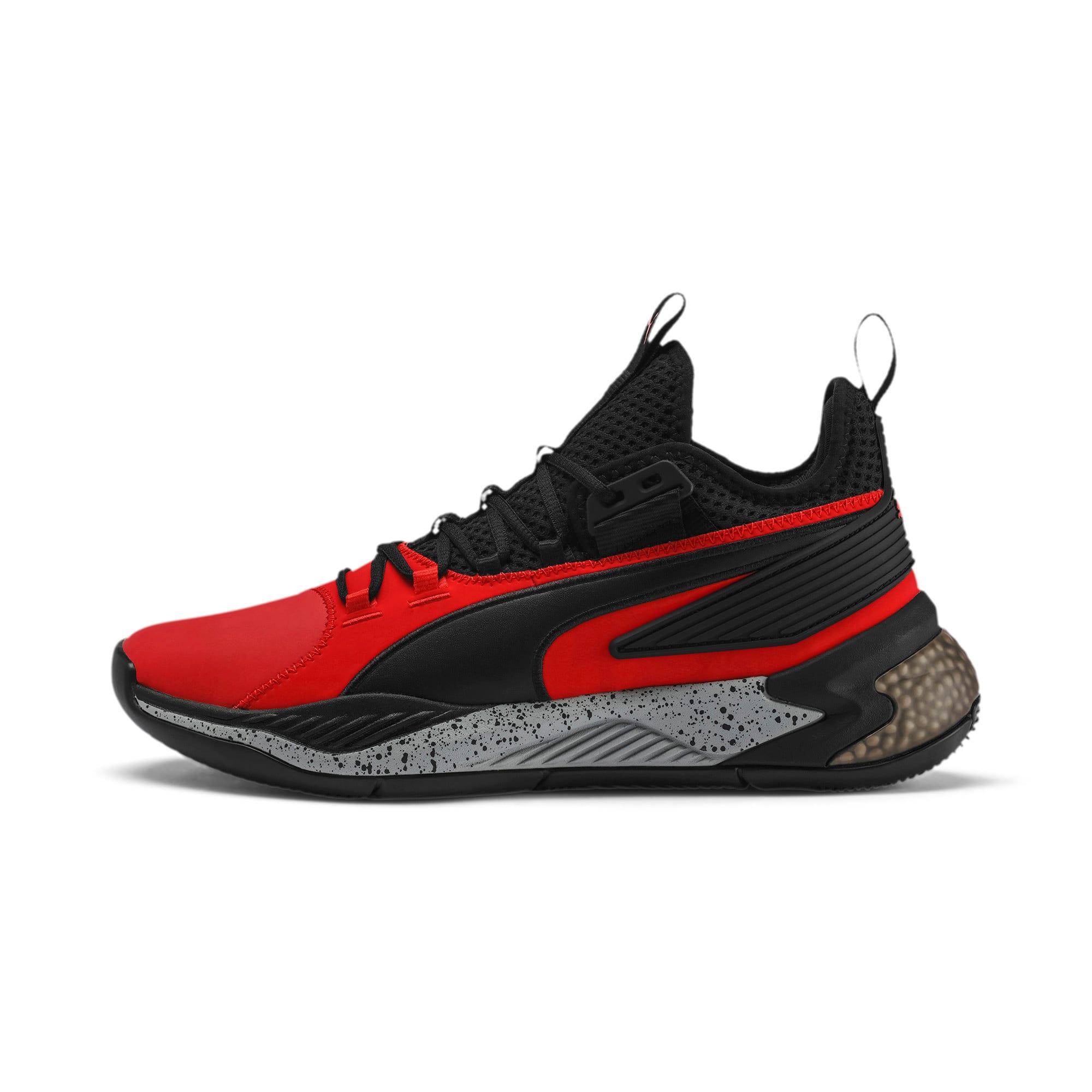 Thumbnail 1 of Uproar Core Men's Basketball Shoes, High Risk Red-Puma Black, medium