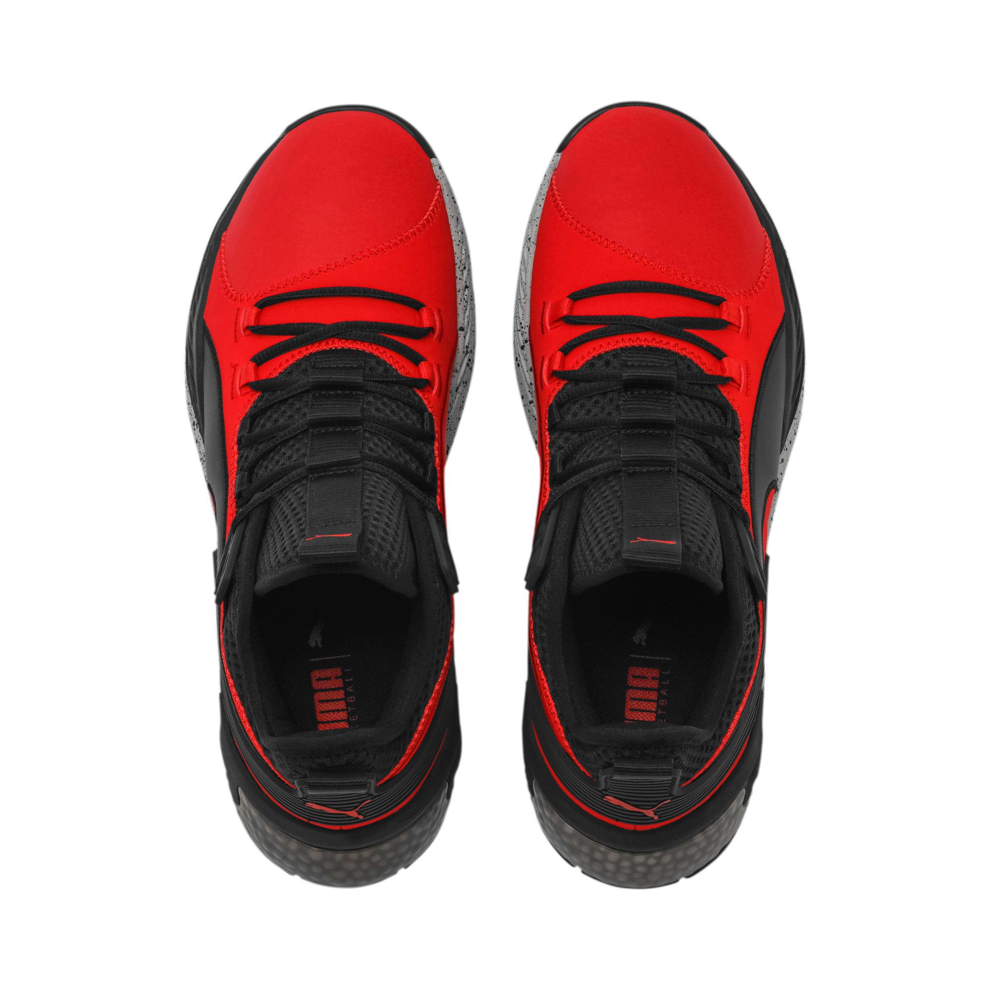 Thumbnail 6 of Uproar Core Men's Basketball Shoes, High Risk Red-Puma Black, medium