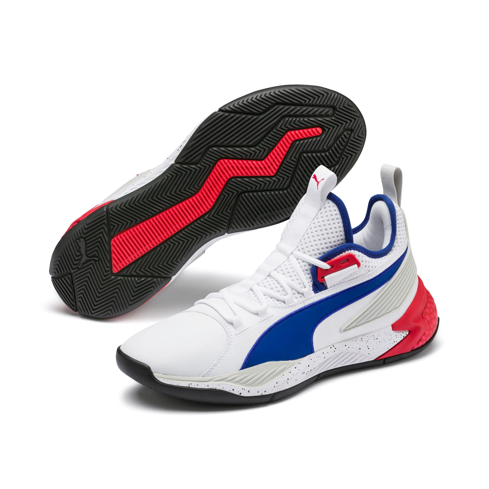 Thumbnail 2 of Uproar Palace Guard Men's Basketball Shoes, Puma White-Surf The Web, medium