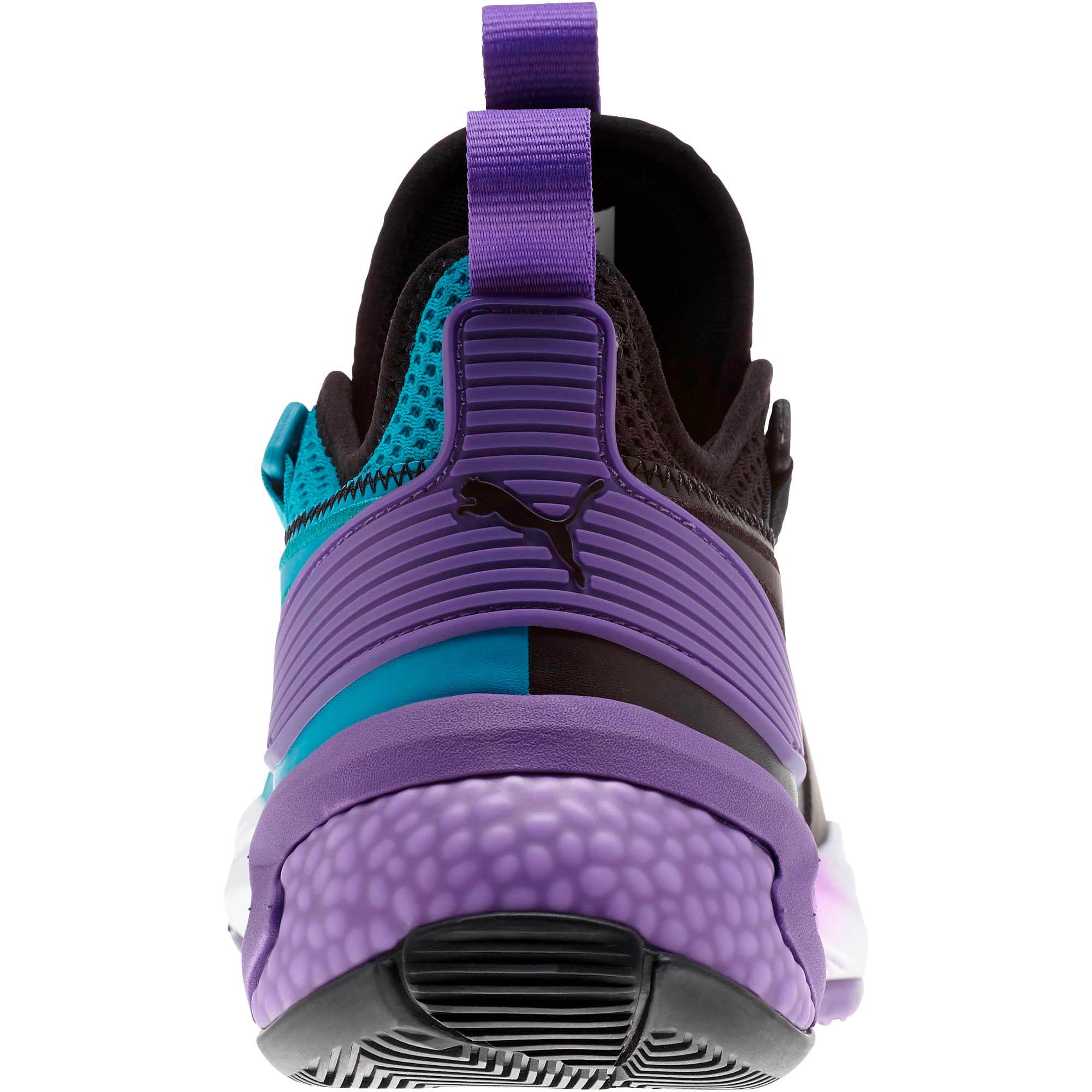 Thumbnail 3 of Uproar Charlotte ASG Fade Basketball Shoes, Orange- PURPLE, medium