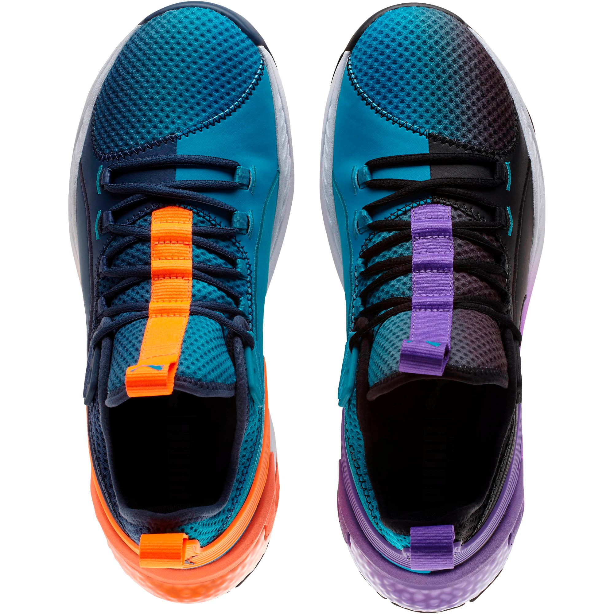Thumbnail 8 of Uproar Charlotte ASG Fade Basketball Shoes, Orange- PURPLE, medium