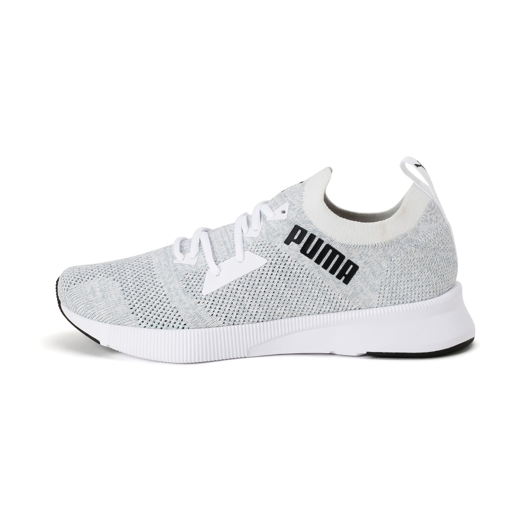 Thumbnail 1 of Flyer Runner Engineered Knit Men's Running Shoes, Puma White-Quarry-Puma Black, medium-IND