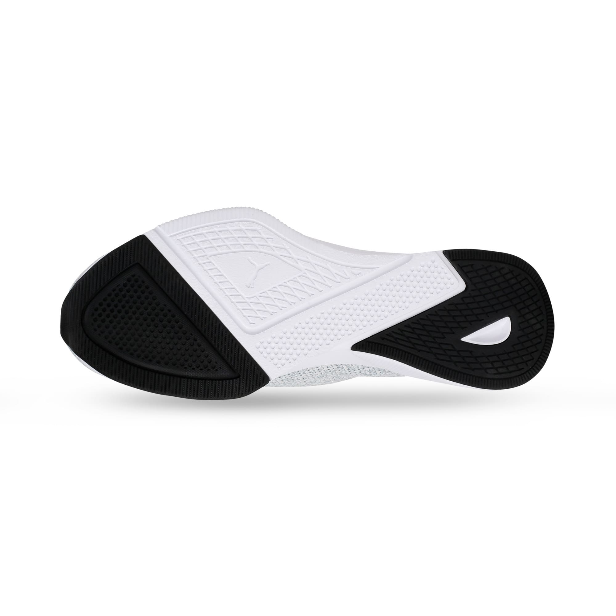 Thumbnail 4 of Flyer Runner Engineered Knit Men's Running Shoes, Puma White-Quarry-Puma Black, medium-IND