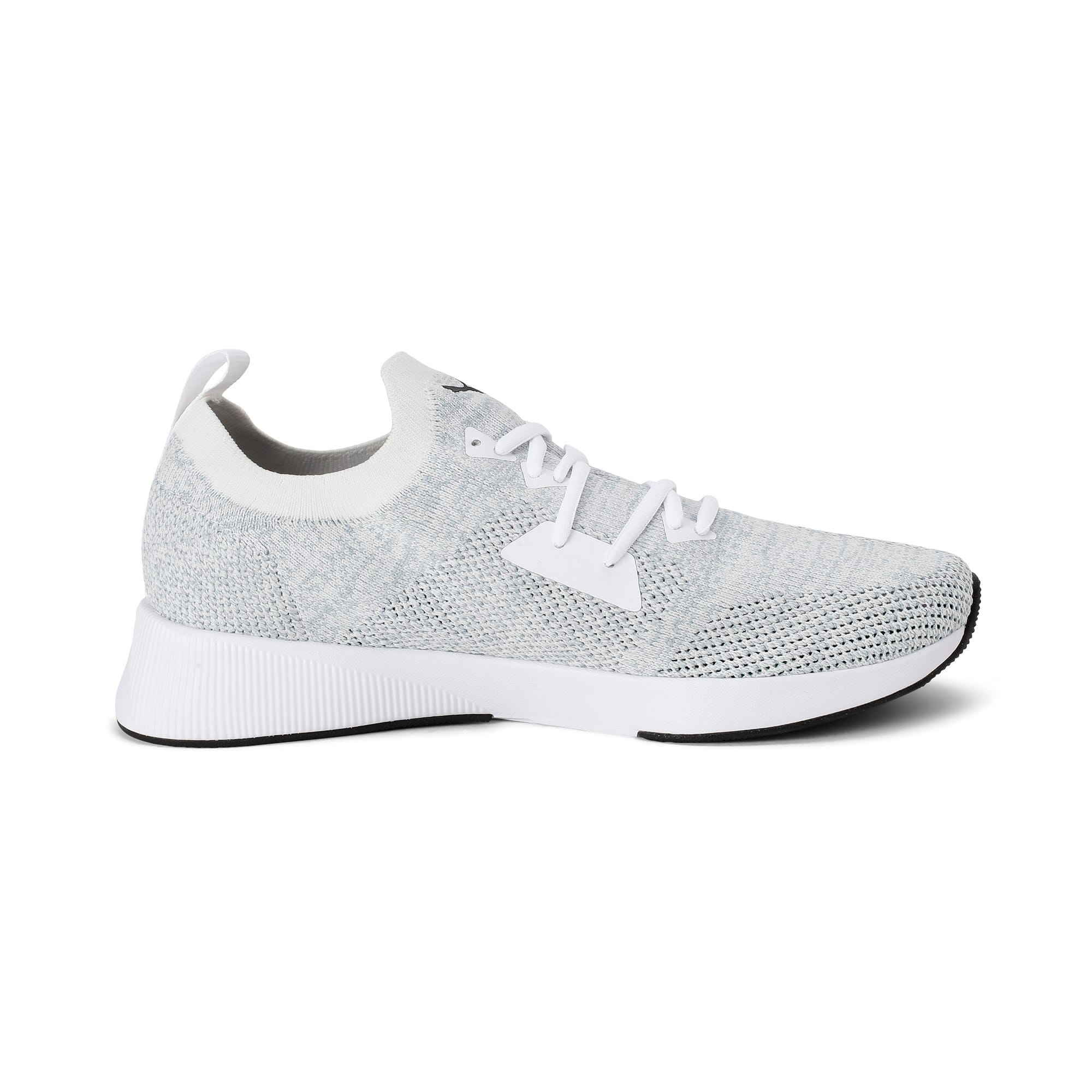Thumbnail 5 of Flyer Runner Engineered Knit Men's Running Shoes, Puma White-Quarry-Puma Black, medium-IND