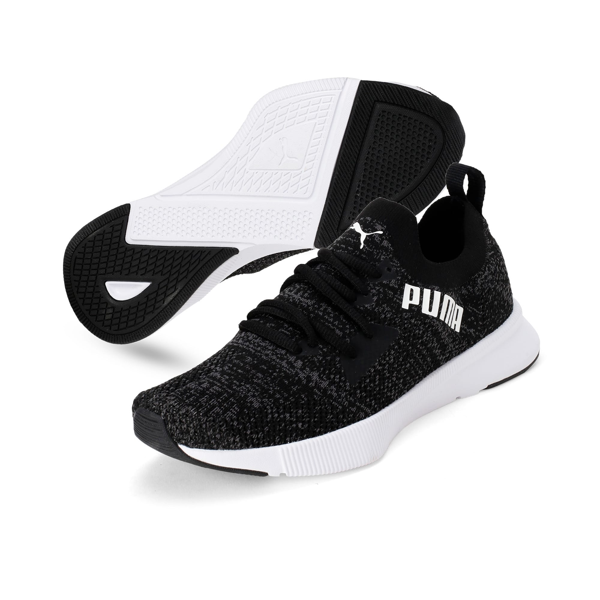 Thumbnail 6 of Flyer Women's Running Shoes, Puma Blk-Asphalt-Puma Wht, medium-IND