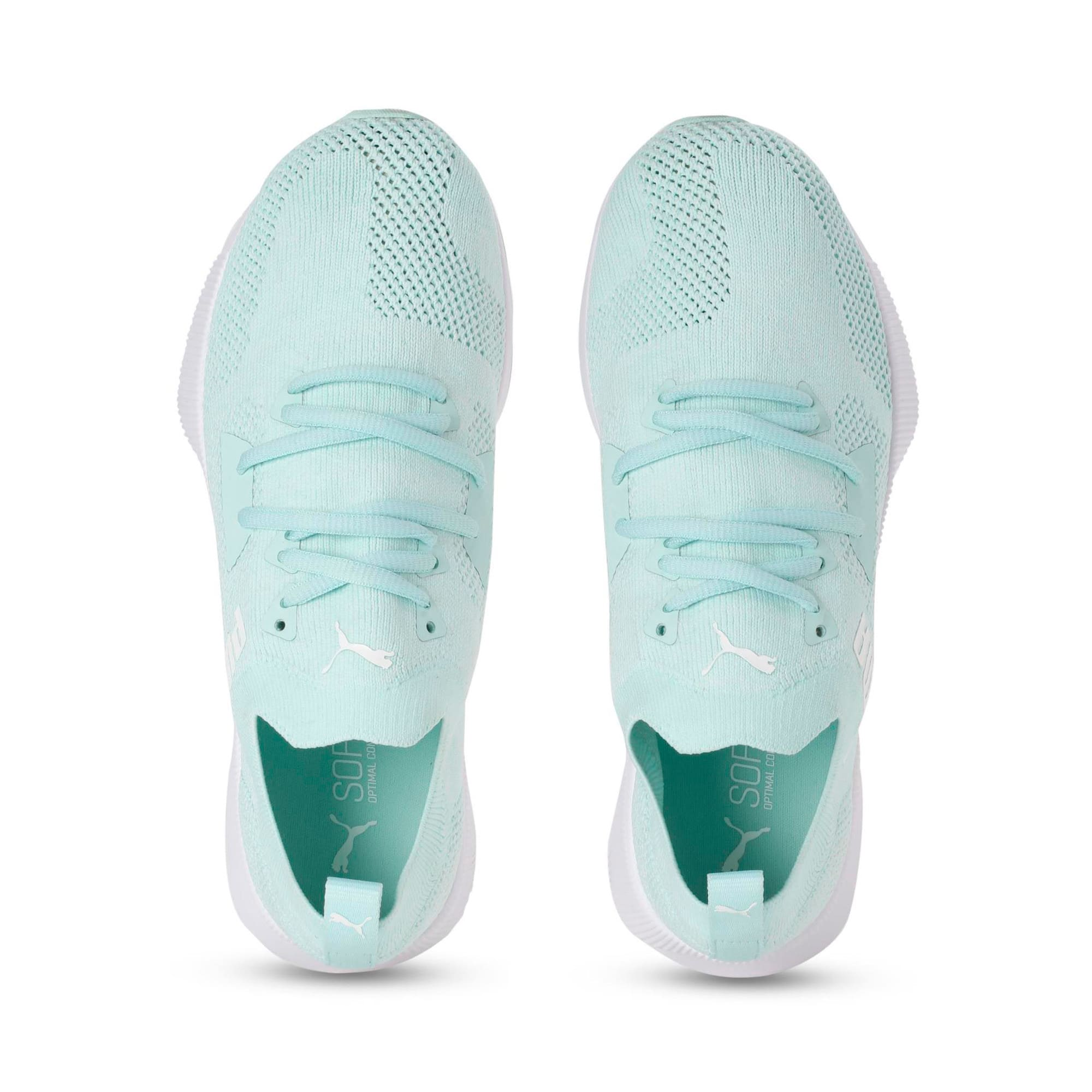 Flyer Women's Running Shoes, Fair Aqua-Puma White, large-IND