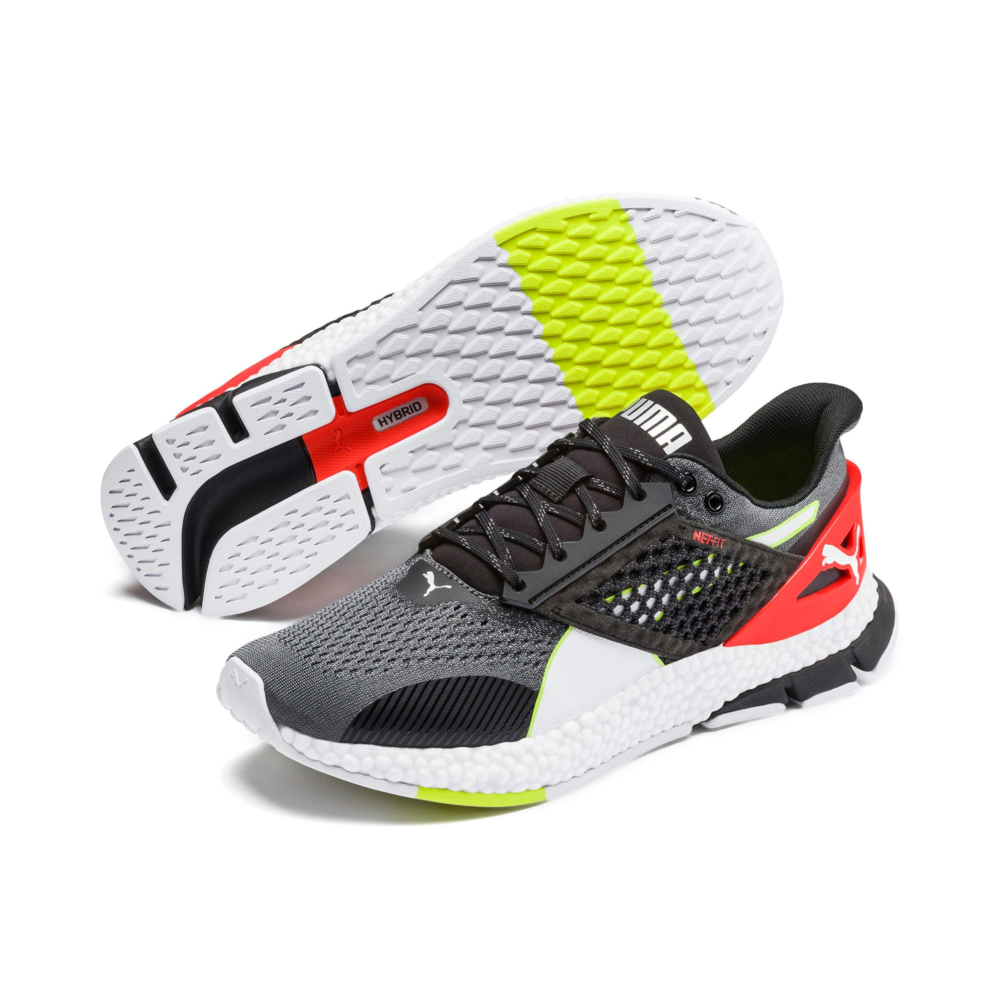 Thumbnail 3 of HYBRID NETFIT Astro Men's Running Shoes, CASTLEROCK-Puma Blck-Ngy Red, medium