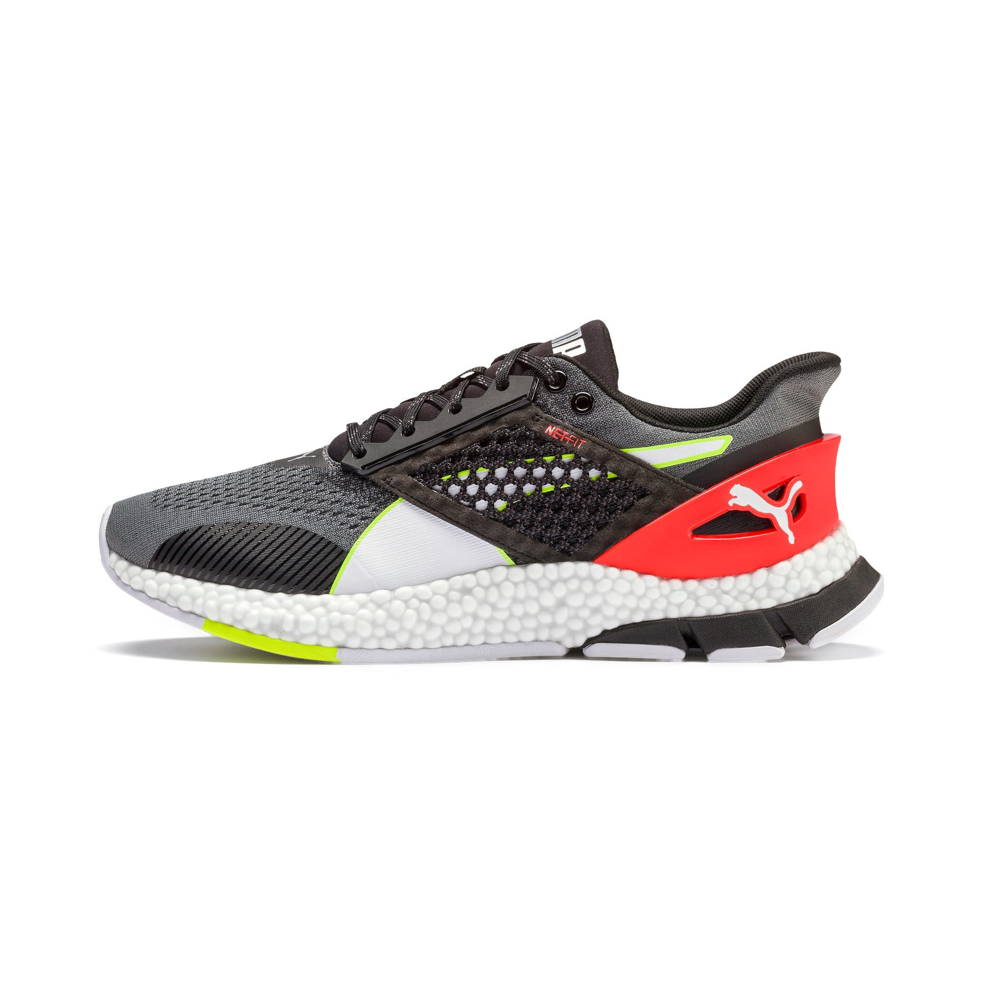 Thumbnail 1 of HYBRID NETFIT Astro Men's Running Shoes, CASTLEROCK-Puma Blck-Ngy Red, medium