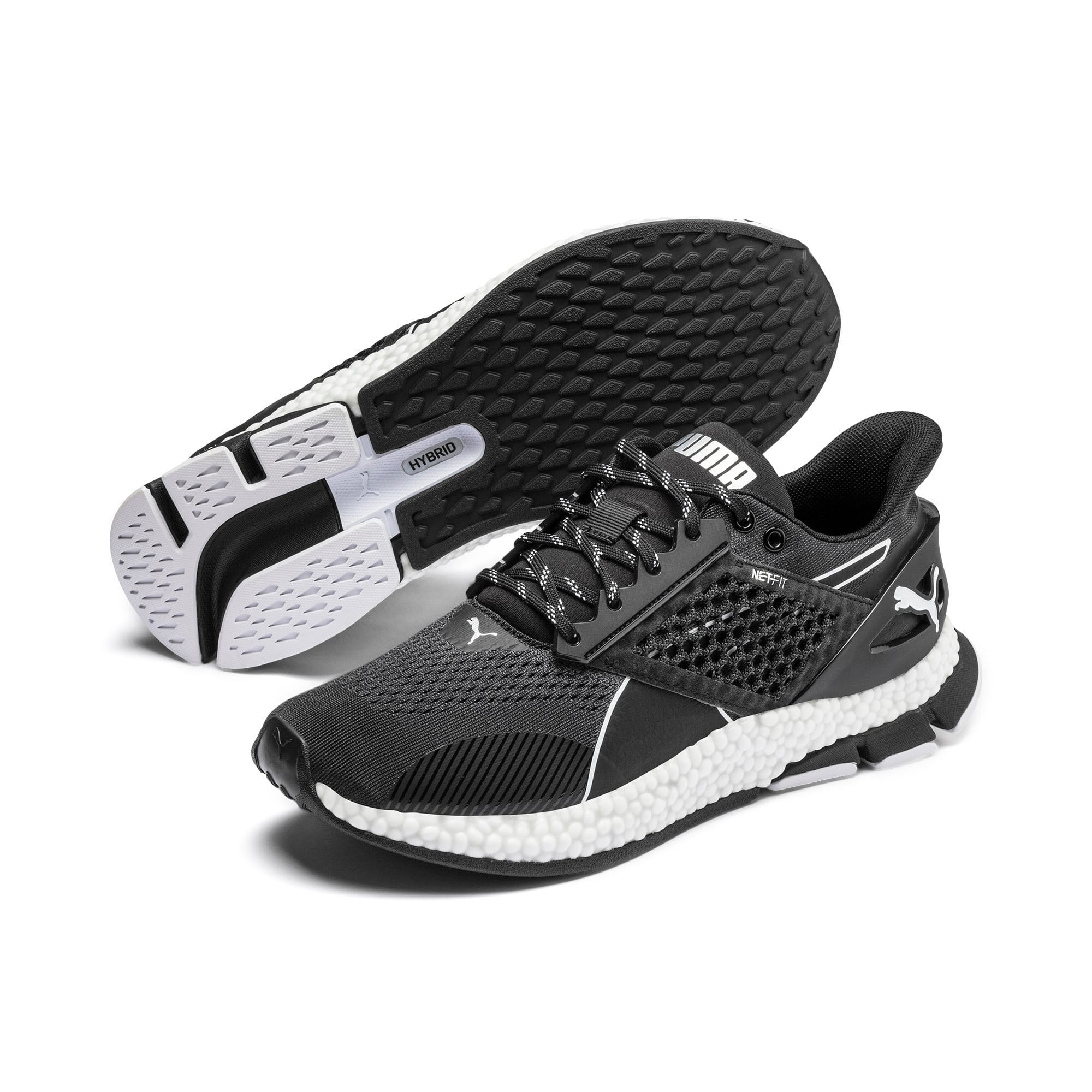 Thumbnail 3 of HYBRID NETFIT Astro Men's Running Shoes, Puma Black-Puma White, medium