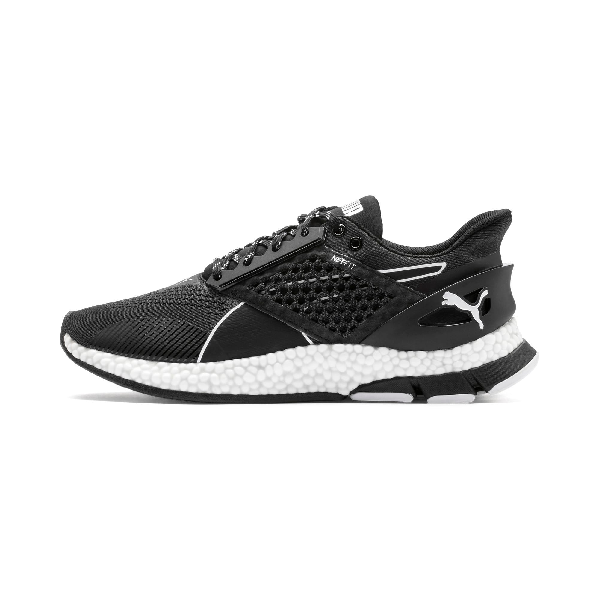Thumbnail 1 of HYBRID NETFIT Astro Men's Running Shoes, Puma Black-Puma White, medium