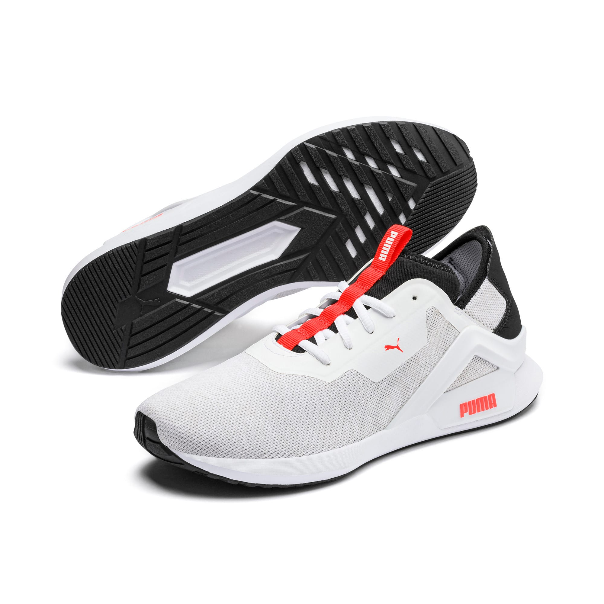 Thumbnail 3 of Rogue X Knit Men's Trainers, White-Black-Nrgy Red, medium