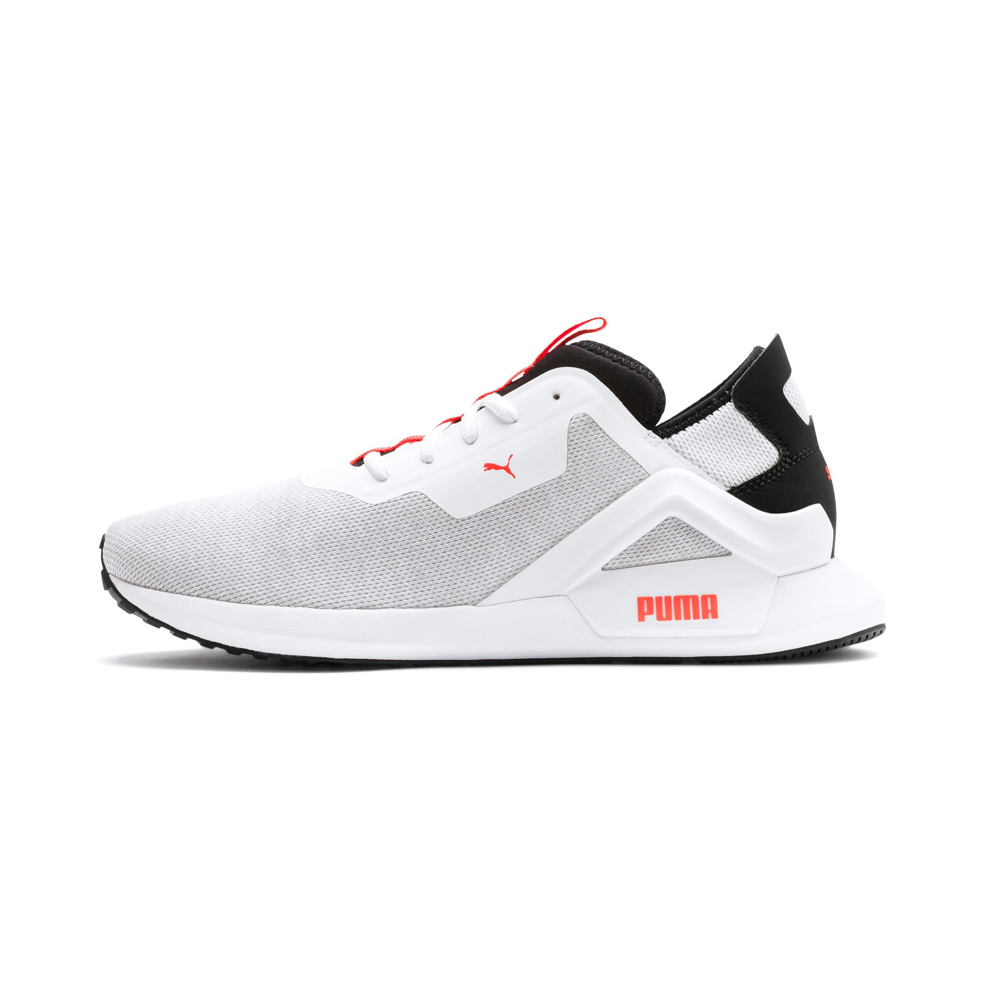 Thumbnail 1 of Rogue X Knit Men's Trainers, White-Black-Nrgy Red, medium