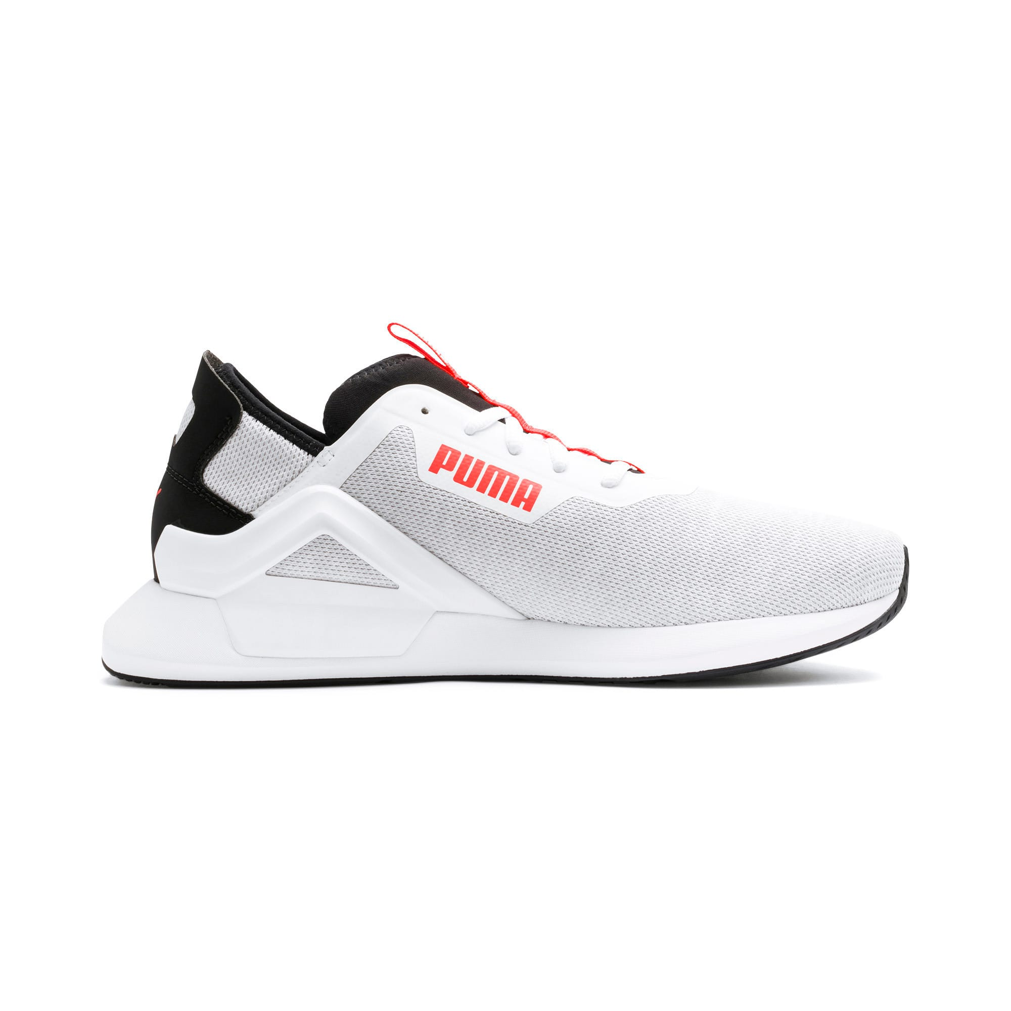 Thumbnail 6 of Rogue X Knit Men's Trainers, White-Black-Nrgy Red, medium