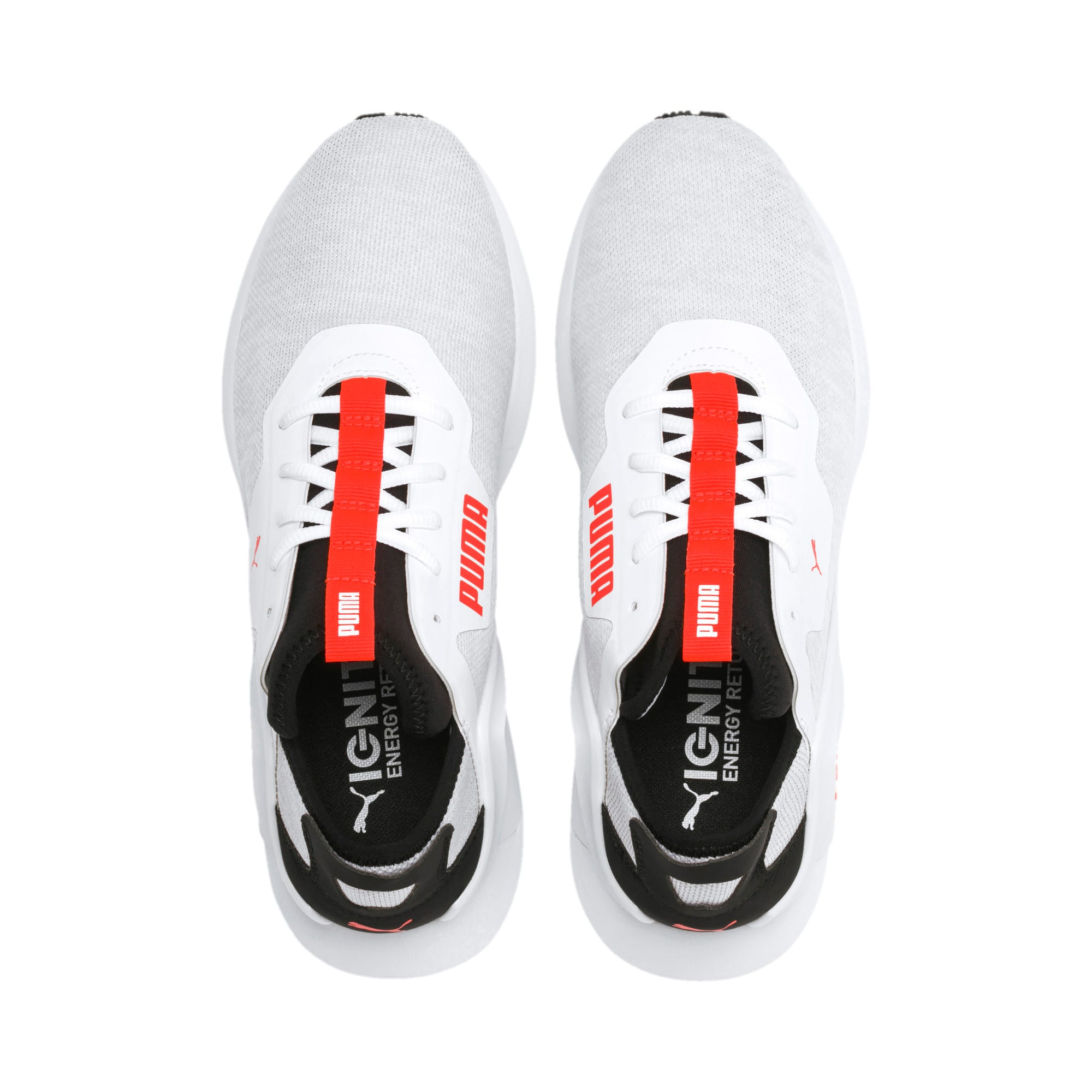 Thumbnail 7 of Rogue X Knit Men's Trainers, White-Black-Nrgy Red, medium