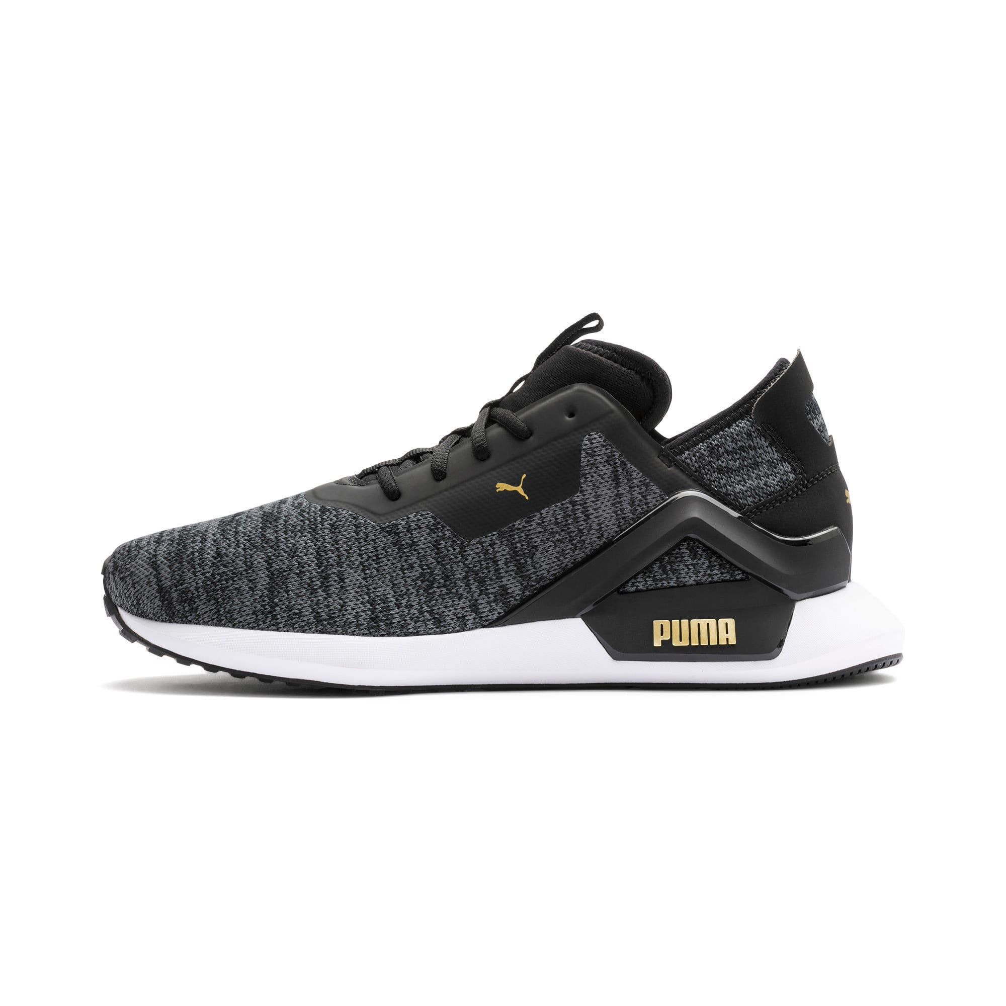 Thumbnail 1 of Rogue X Knit Men's Trainers, Black-CASTLEROCK-Gold, medium