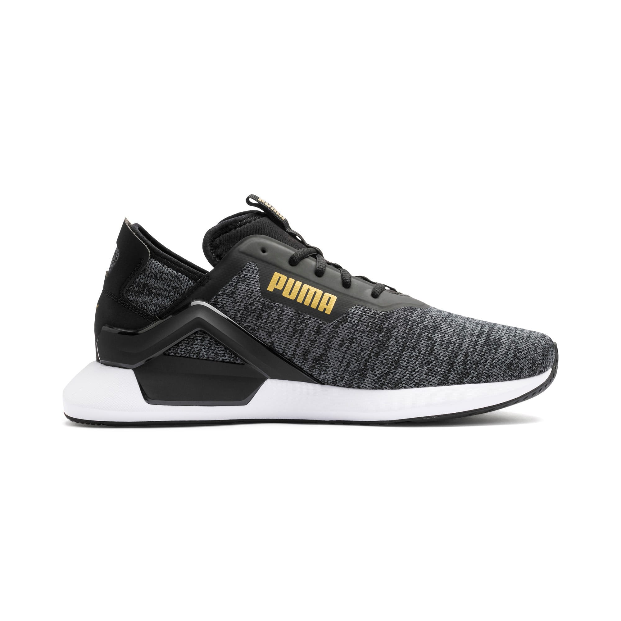 Thumbnail 6 of Rogue X Knit Men's Trainers, Black-CASTLEROCK-Gold, medium