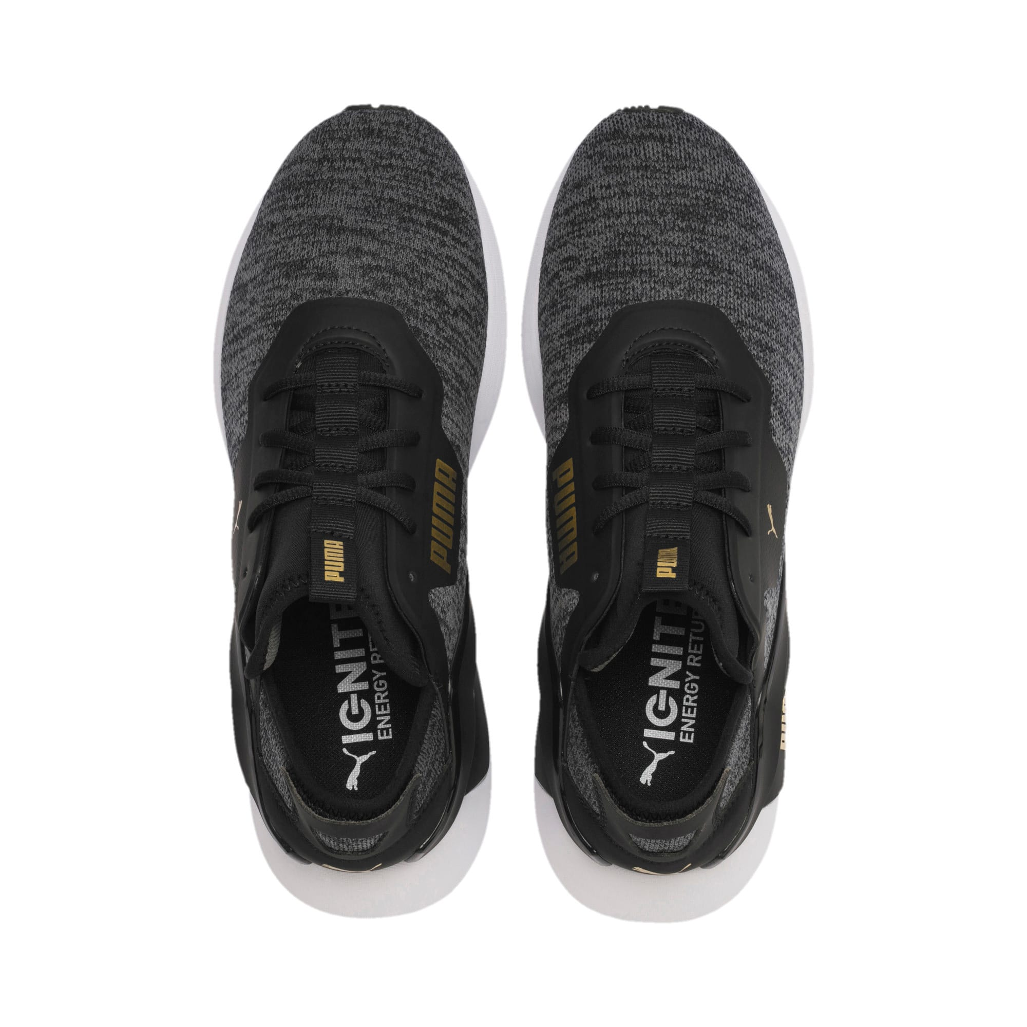 Thumbnail 7 of Rogue X Knit Men's Trainers, Black-CASTLEROCK-Gold, medium