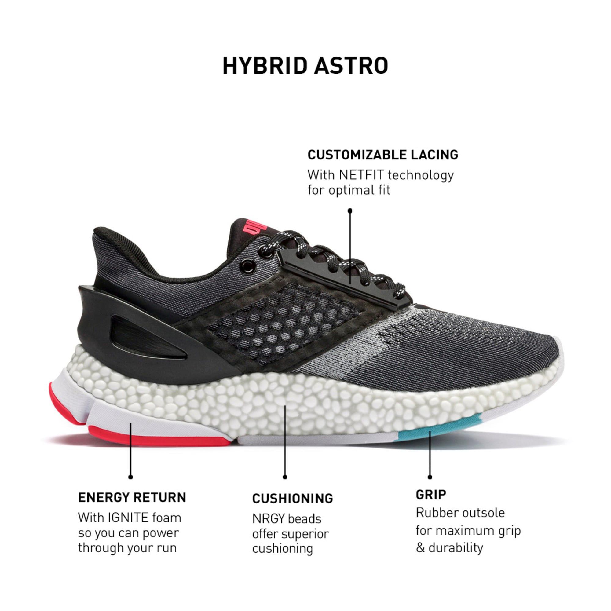Thumbnail 11 of HYBRID NETFIT Astro Women's Running Shoes, Puma Black-Pink Alert, medium-IND