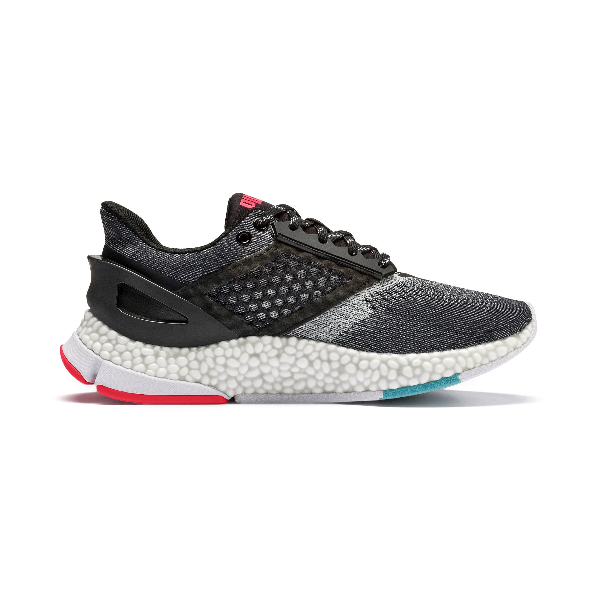 Thumbnail 8 of HYBRID NETFIT Astro Women's Running Shoes, Puma Black-Pink Alert, medium