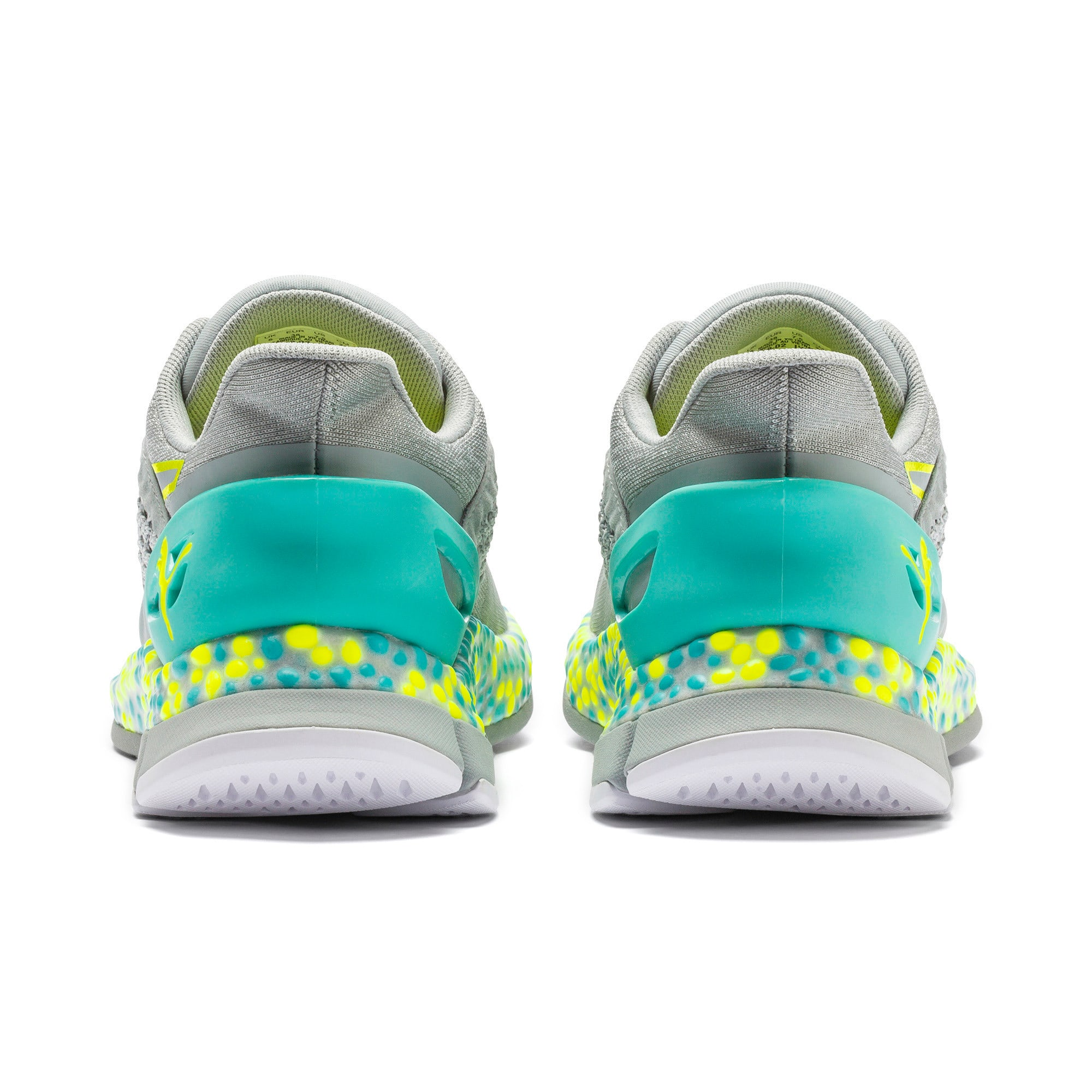 Scarpe Running HYBRID NETFIT Astro donna, Quarry-Yellow Alert, large