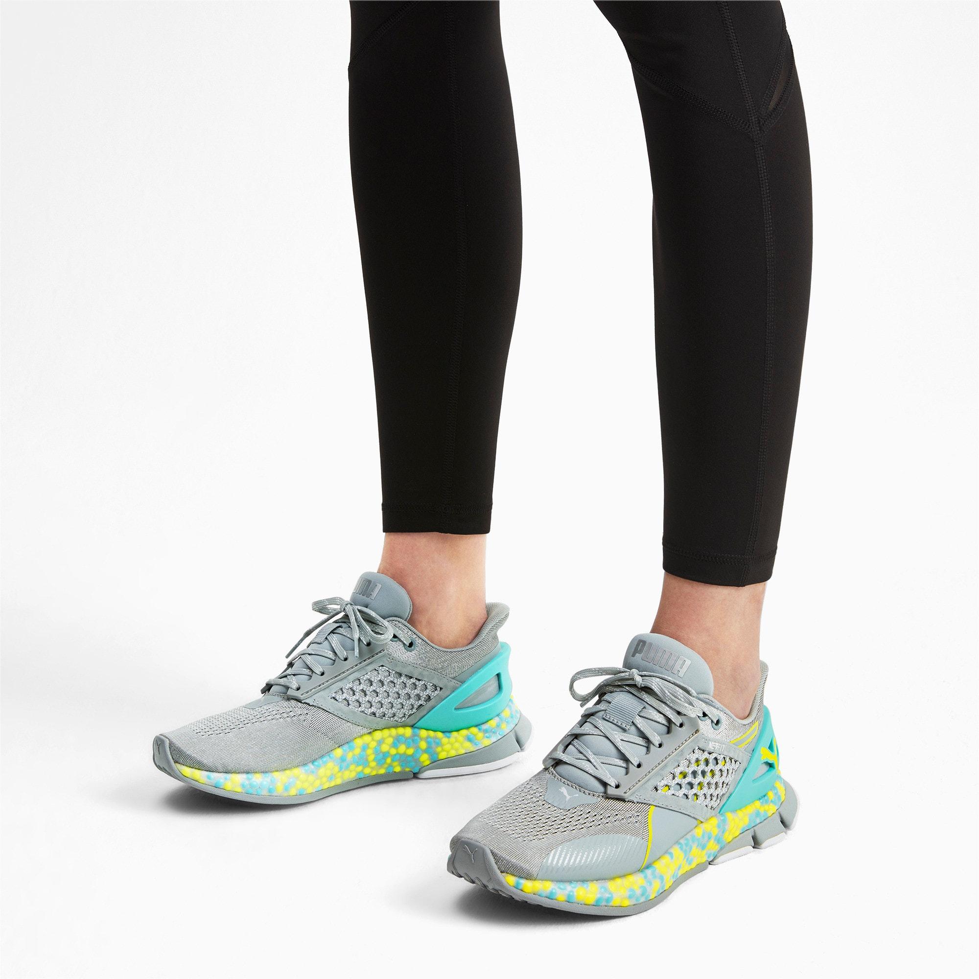Thumbnail 3 of HYBRID Astro Women's Running Shoes, Quarry-Yellow Alert, medium