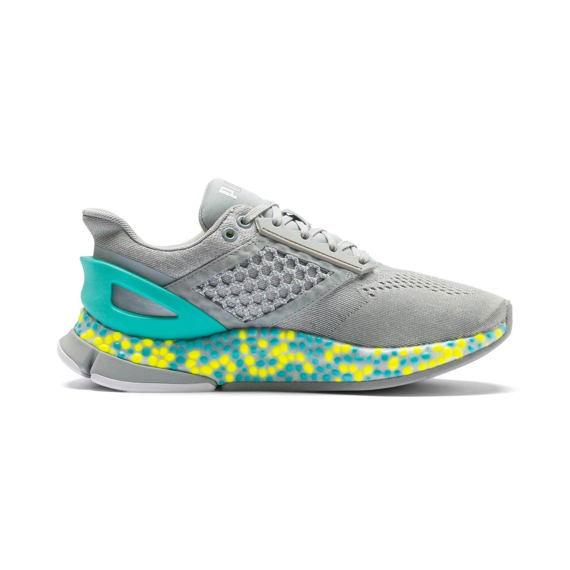 Thumbnail 8 of HYBRID Astro Women's Running Shoes, Quarry-Yellow Alert, medium