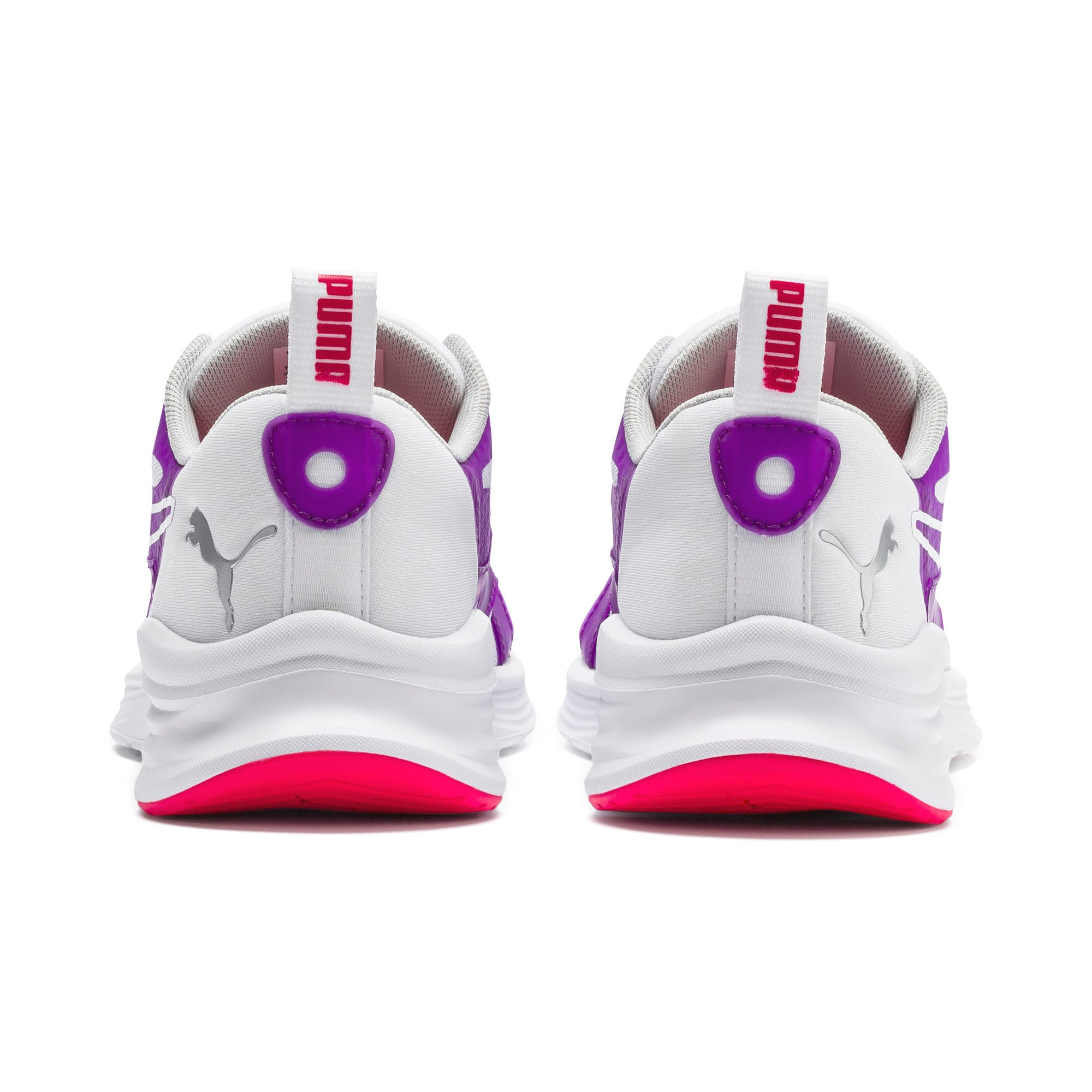 Thumbnail 3 of HYBRID Fuego Youth Trainers, Puma White-Royal Lilac, medium-IND