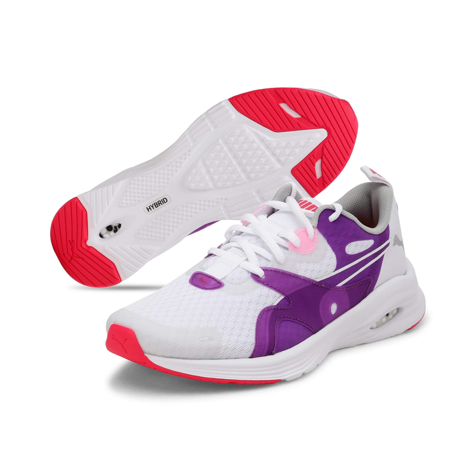 Thumbnail 2 of HYBRID Fuego Youth Trainers, Puma White-Royal Lilac, medium-IND