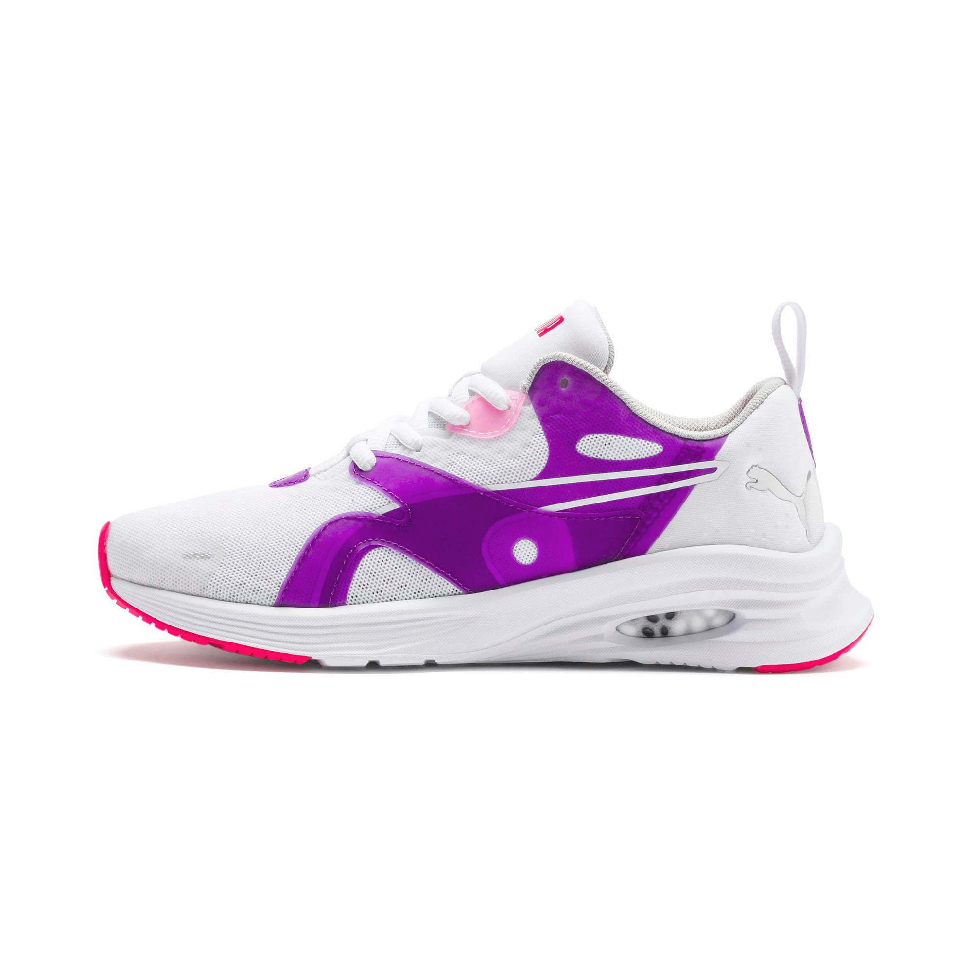 Thumbnail 1 of HYBRID Fuego Youth Trainers, Puma White-Royal Lilac, medium-IND