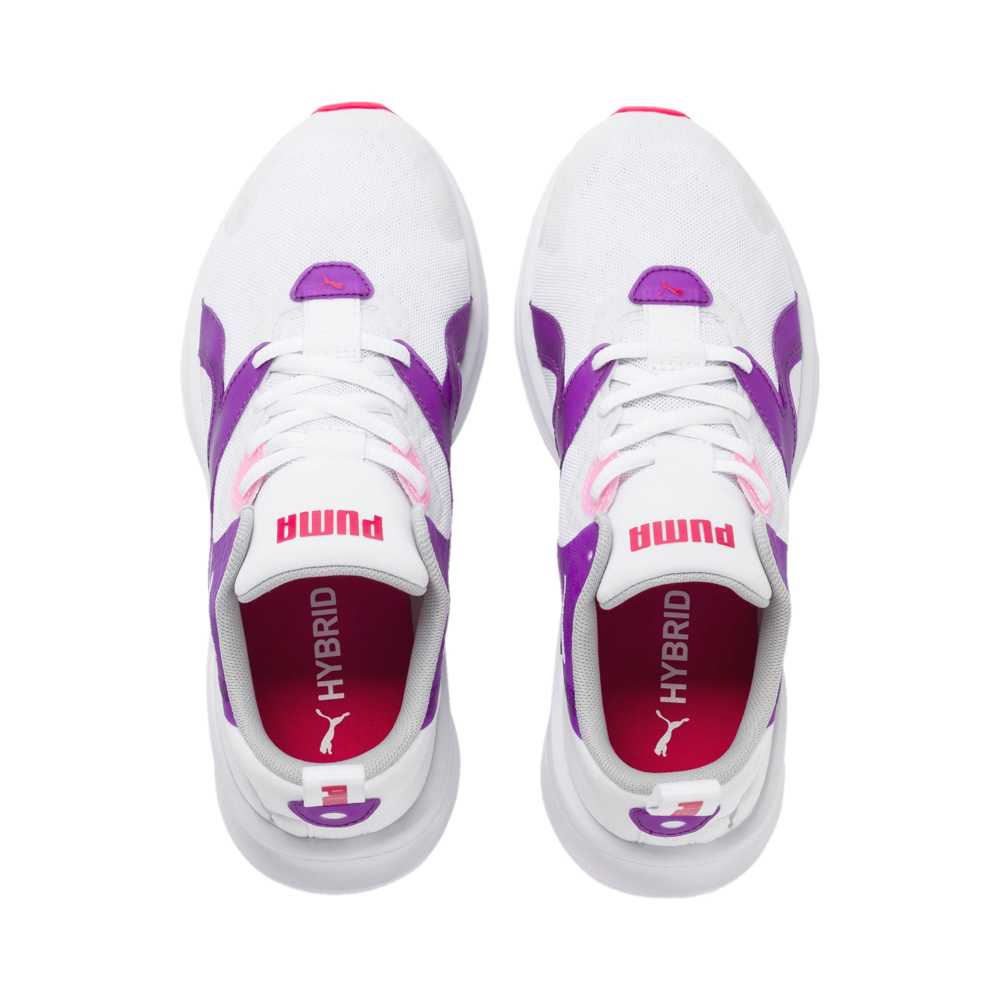 Thumbnail 6 of HYBRID Fuego Youth Trainers, Puma White-Royal Lilac, medium-IND