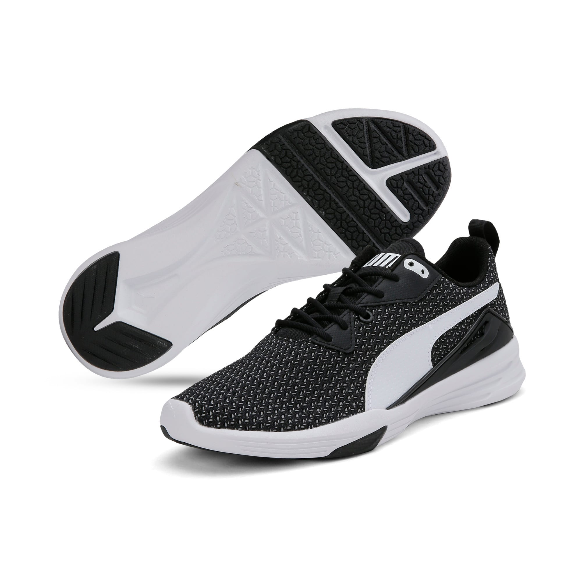 Thumbnail 4 of Aura XT Men's Trainers, Puma Black-Puma White, medium-IND