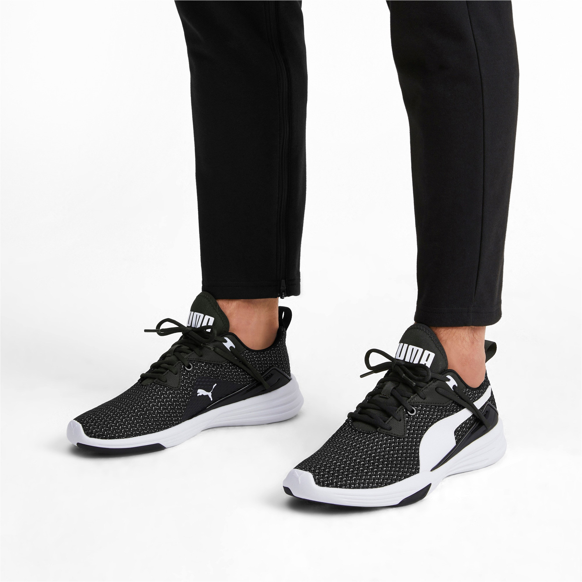 Thumbnail 3 of Aura XT Men's Trainers, Puma Black-Puma White, medium-IND