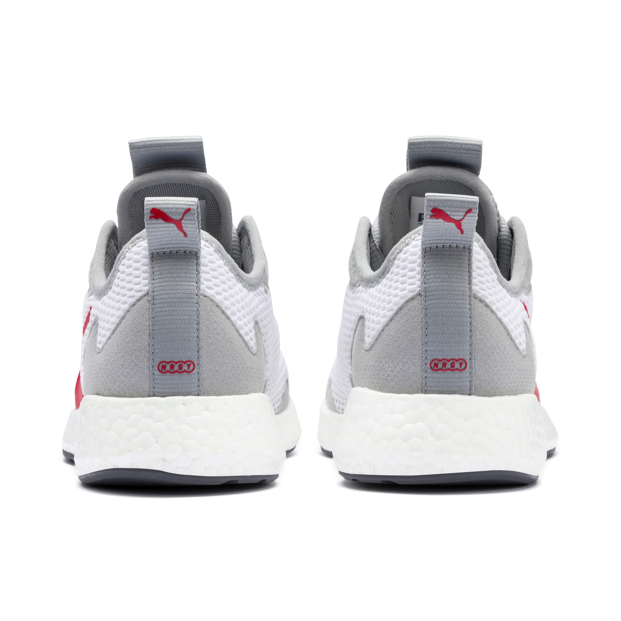 Thumbnail 3 of NRGY Neko Skim Youth Sneaker, White-H Rise-CASTLEROCK-Red, medium
