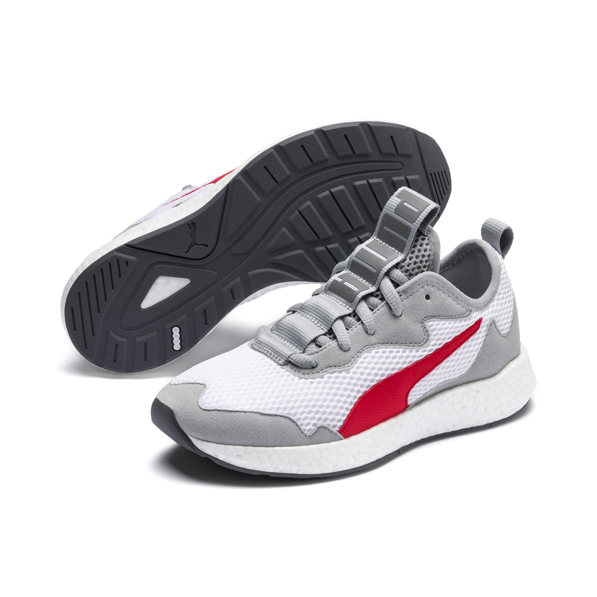 Thumbnail 2 of NRGY Neko Skim Youth Sneaker, White-H Rise-CASTLEROCK-Red, medium