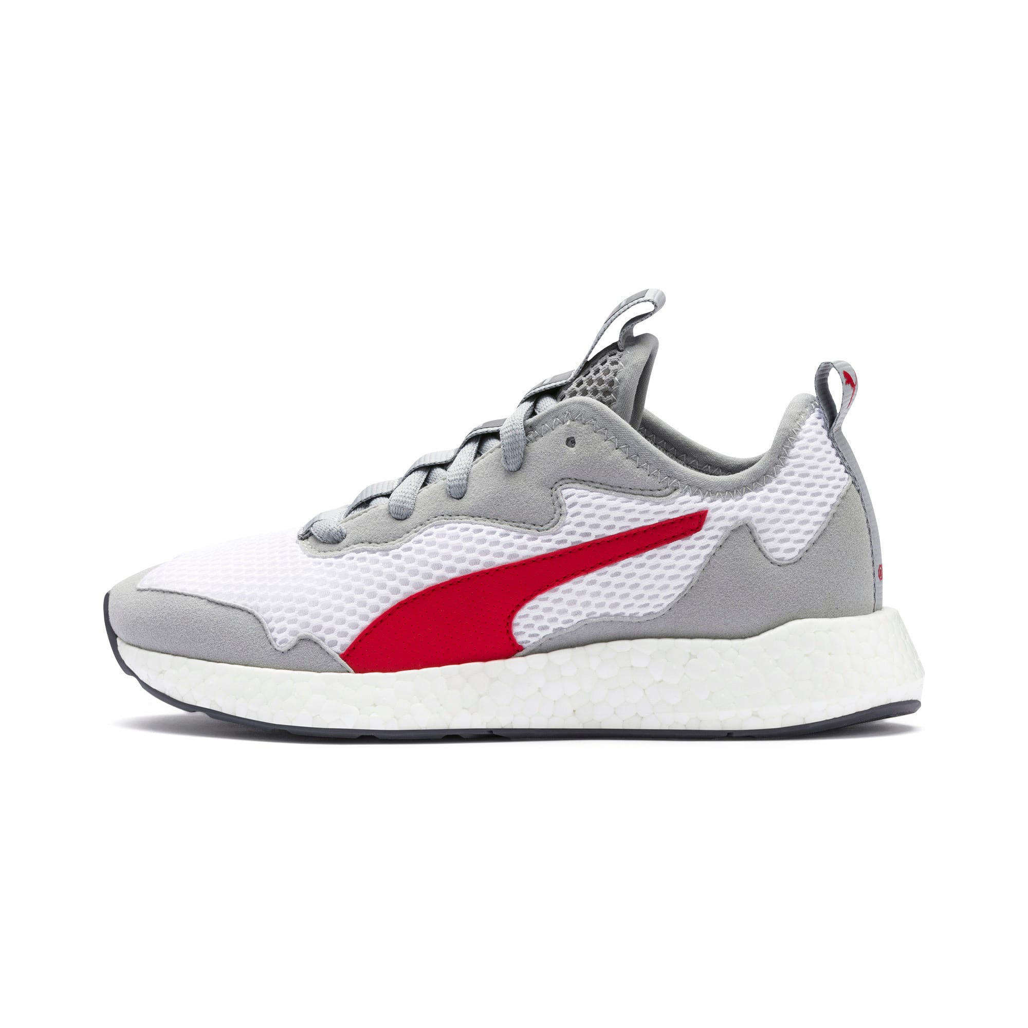 Thumbnail 1 of NRGY Neko Skim Youth Sneaker, White-H Rise-CASTLEROCK-Red, medium