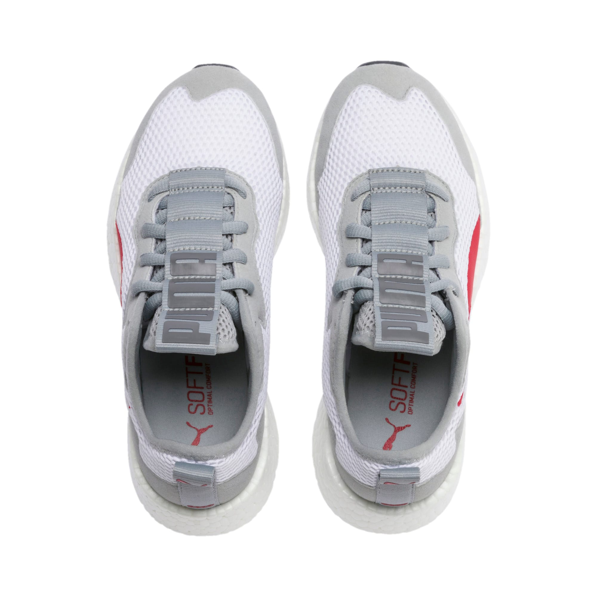 Thumbnail 6 of NRGY Neko Skim Youth Sneaker, White-H Rise-CASTLEROCK-Red, medium
